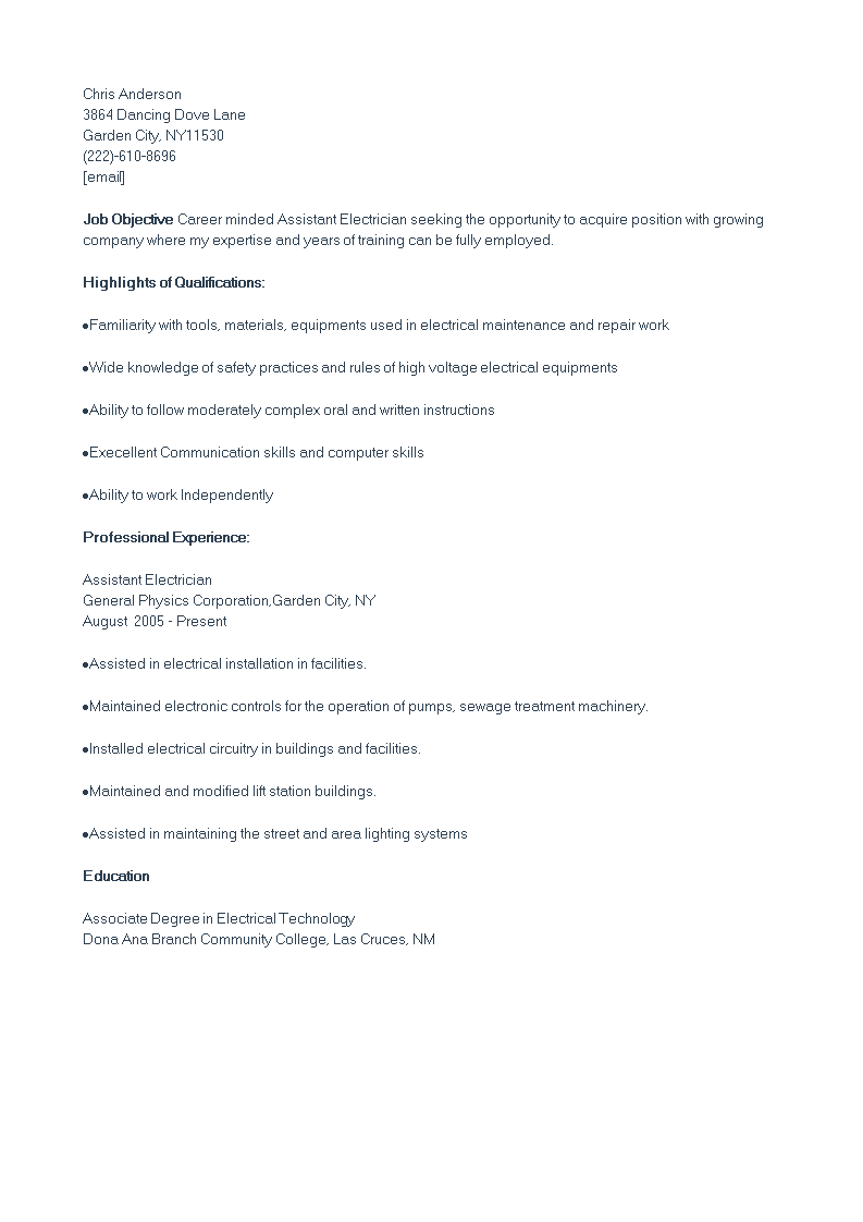 Administrative Assistant CV sample main image