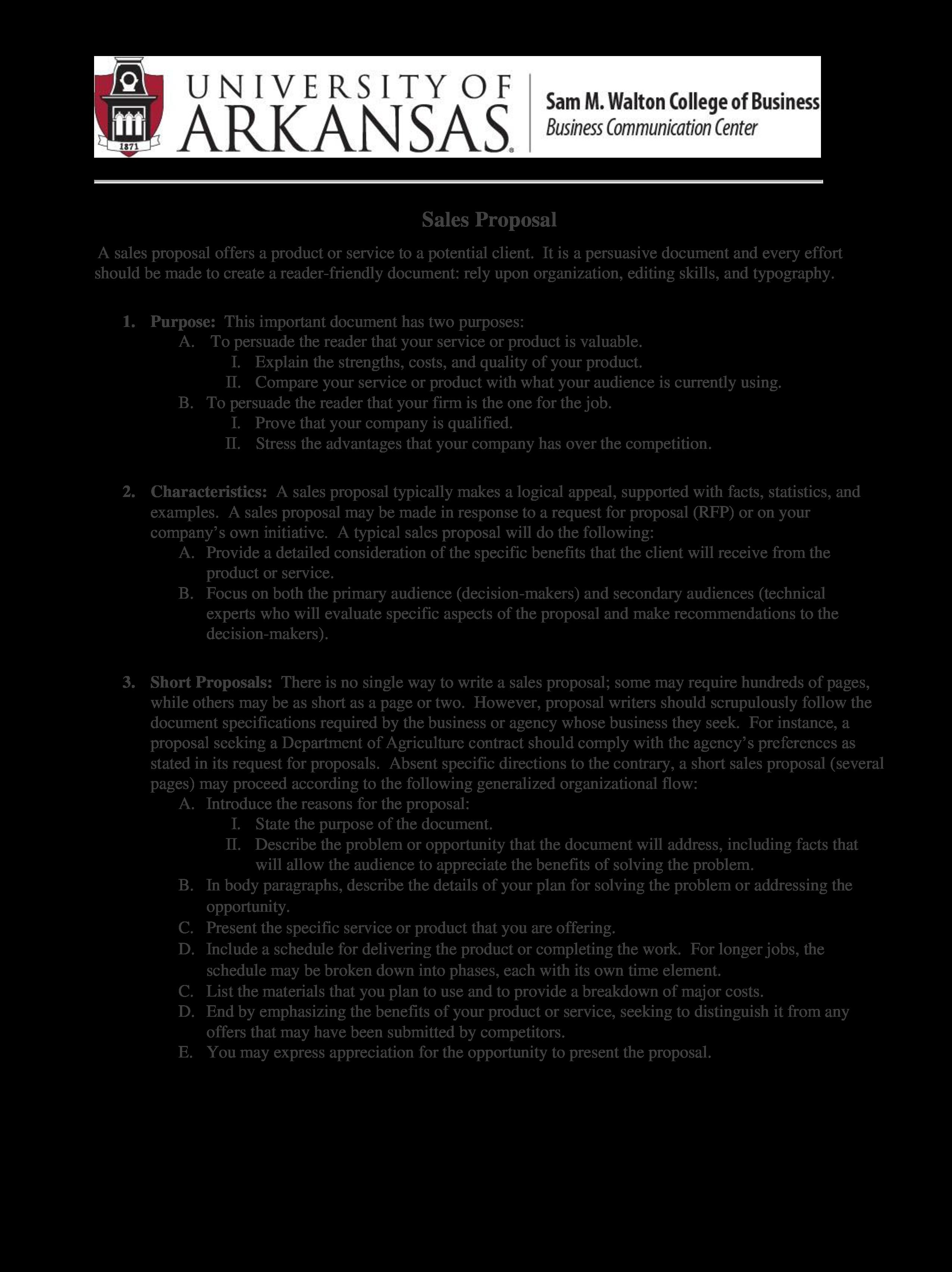 business sales proposal sample