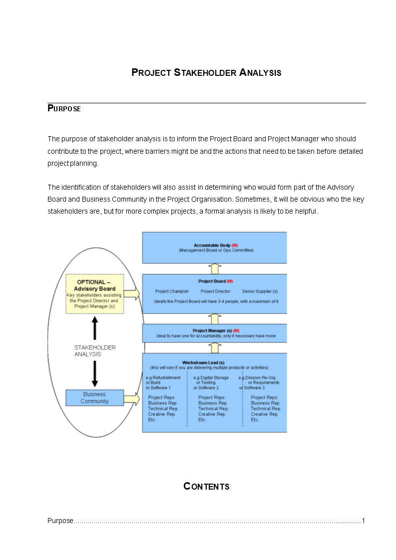 Project Stakeholder Analysis template main image