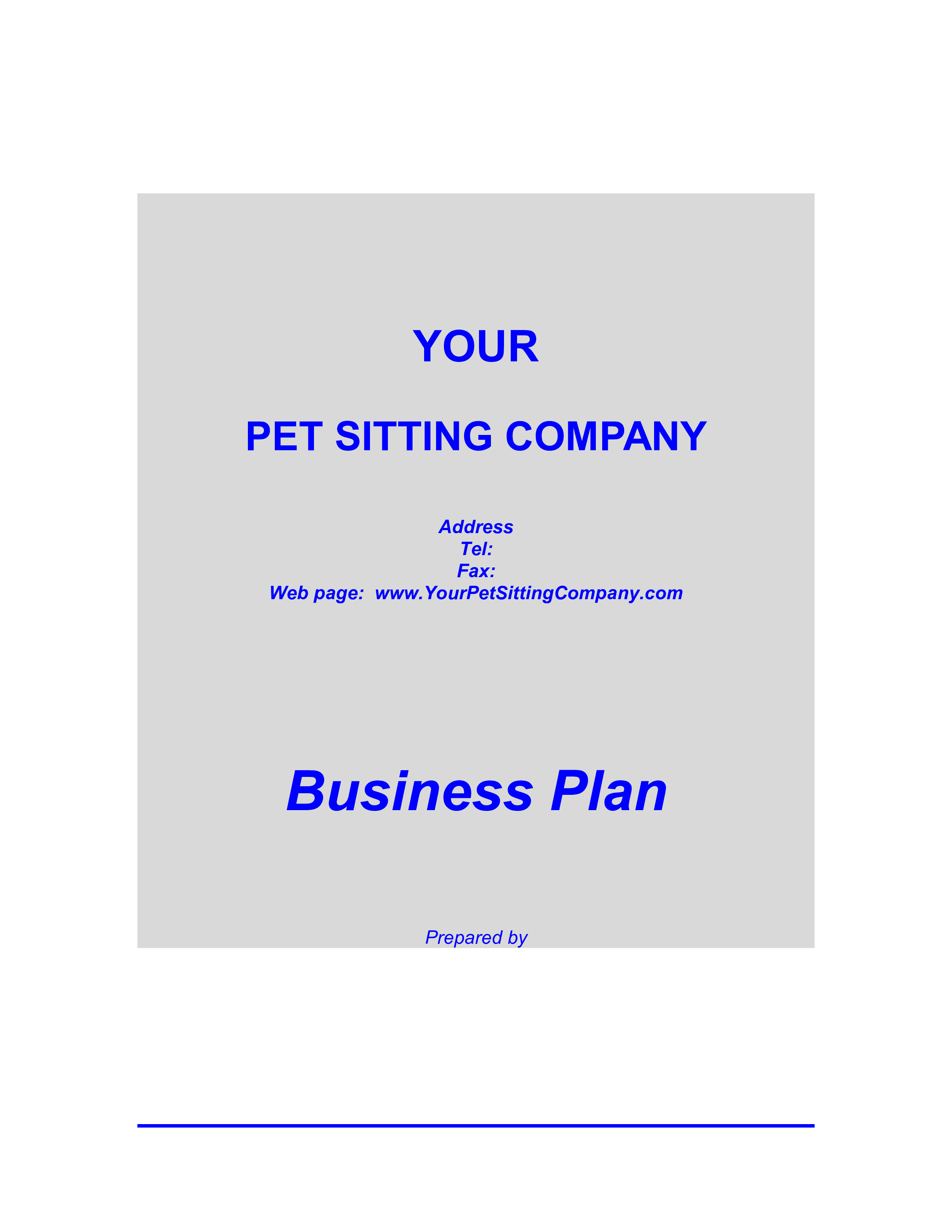 Free Pet Daycare Business Plan Templates At Allbusinesstemplates