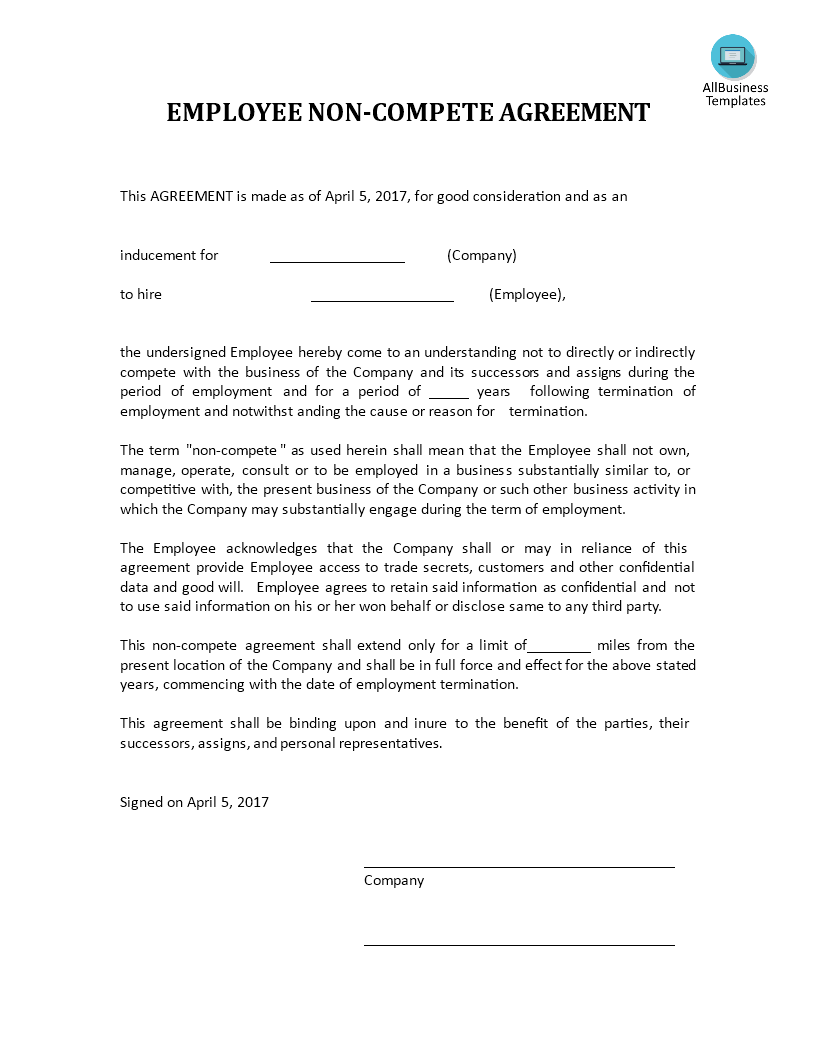 Non Competition Agreement main image