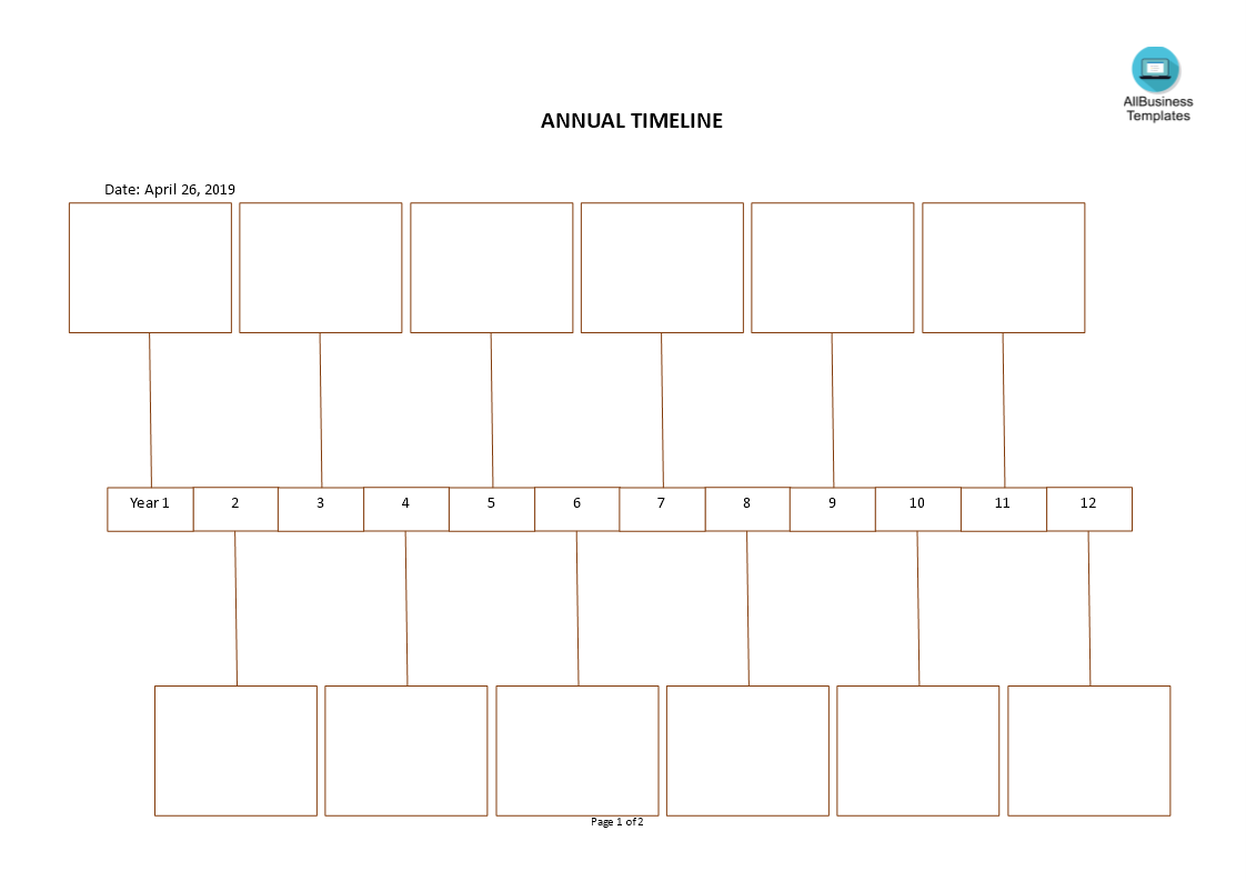 annual timeline template