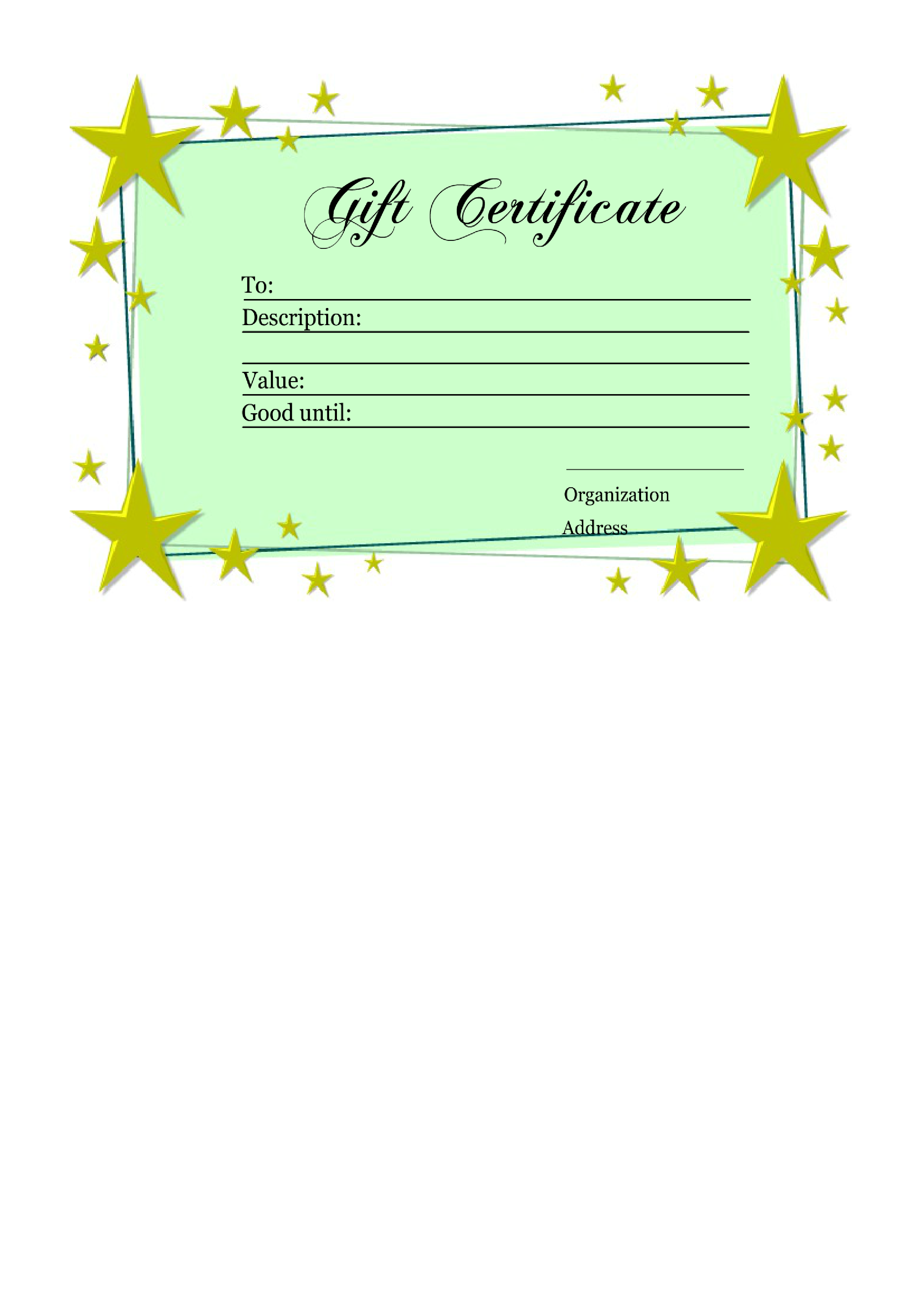Free Homemade Gift Certificate Template Templates At
