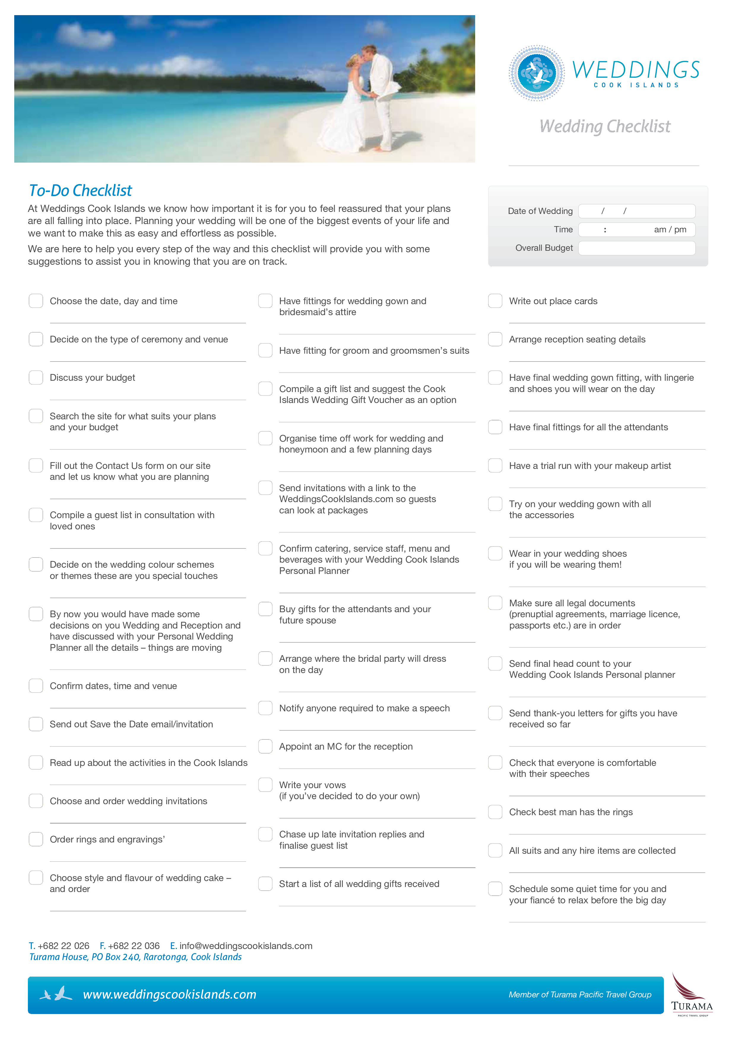 free wedding event checklist templates at