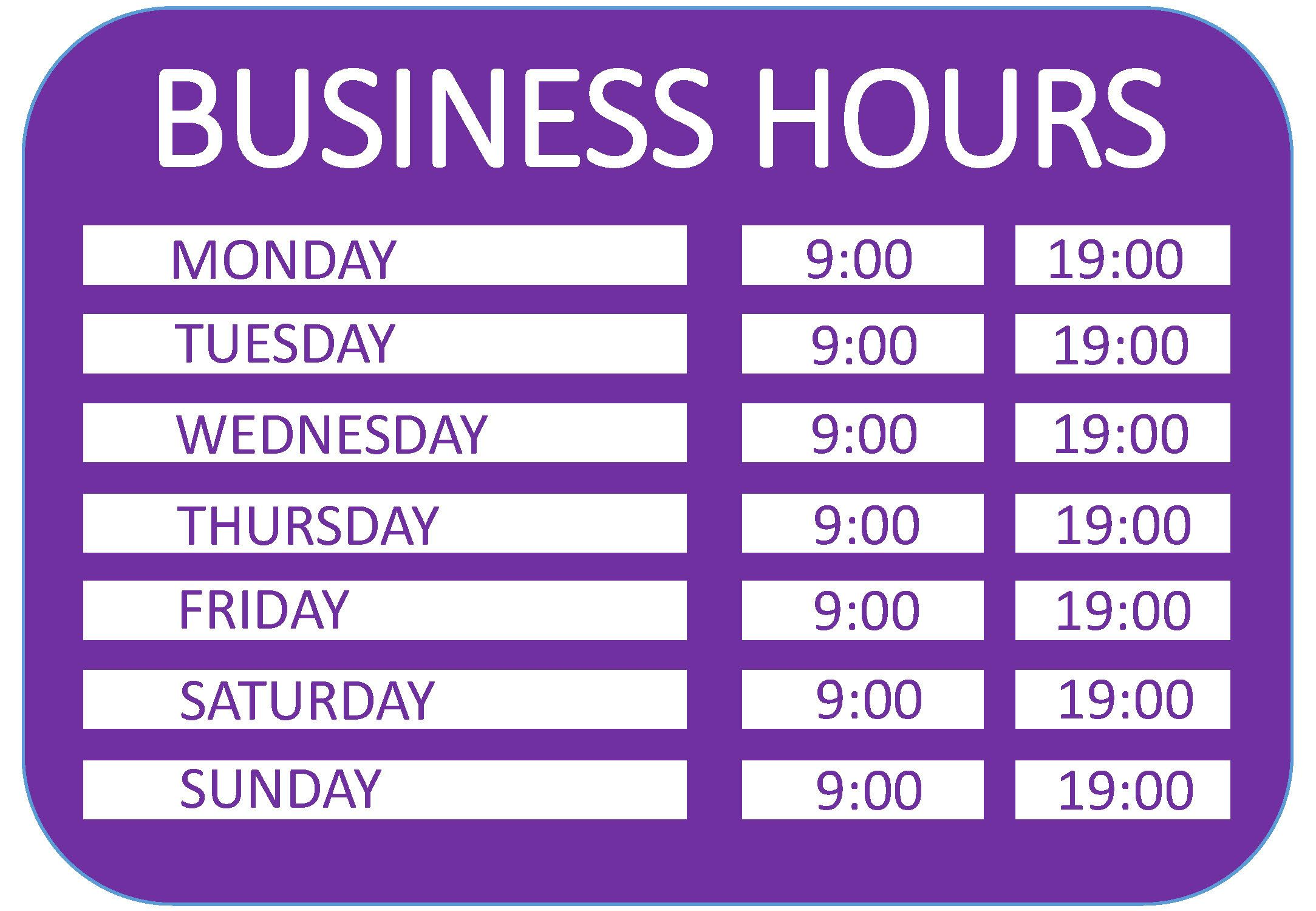 Business hours a4 template templates at for 0 hours contract template