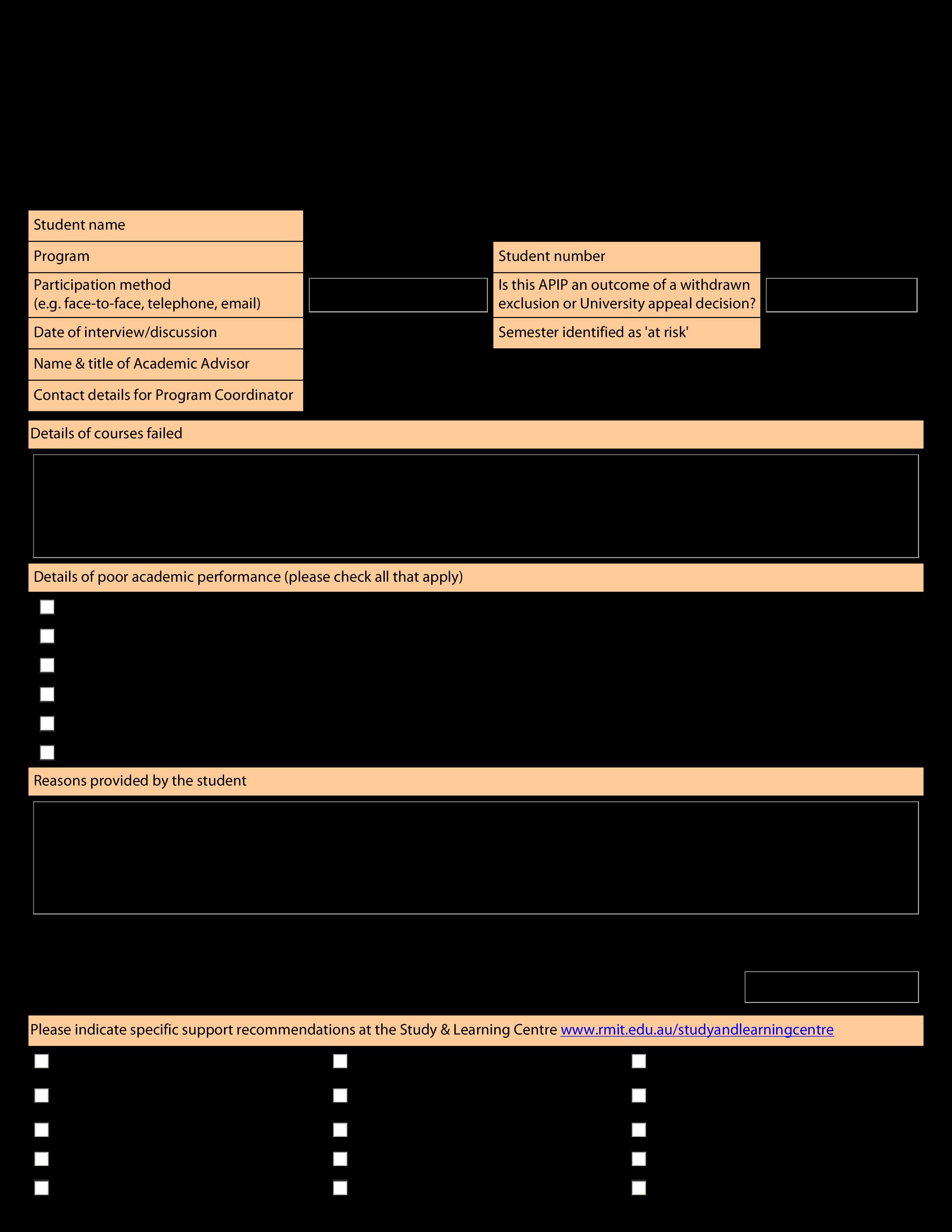 Performance Improvement Plan Templates | Smartsheet |Improvement Plan Template
