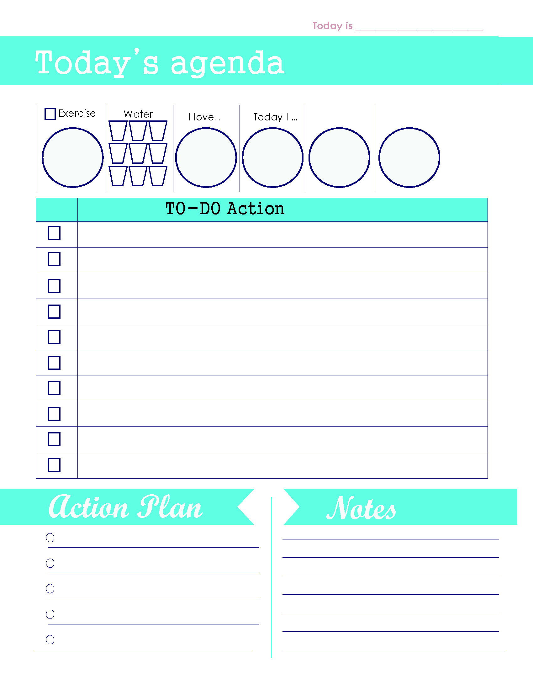 Daily Agenda To Do List Template main image