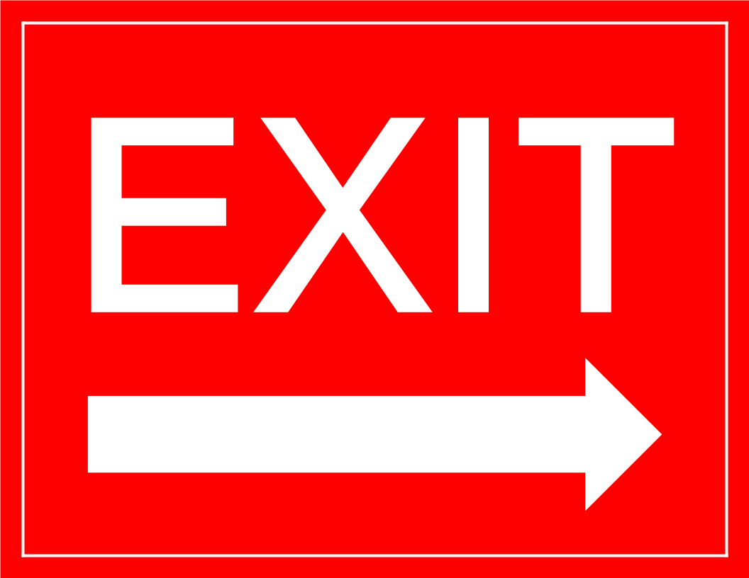 Exit Sign arrow right main image