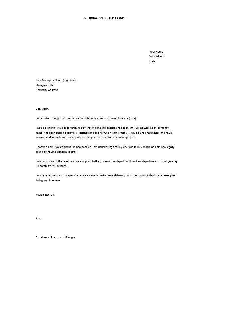 Free Software Professional Resignation Letter Word | Templates at ...