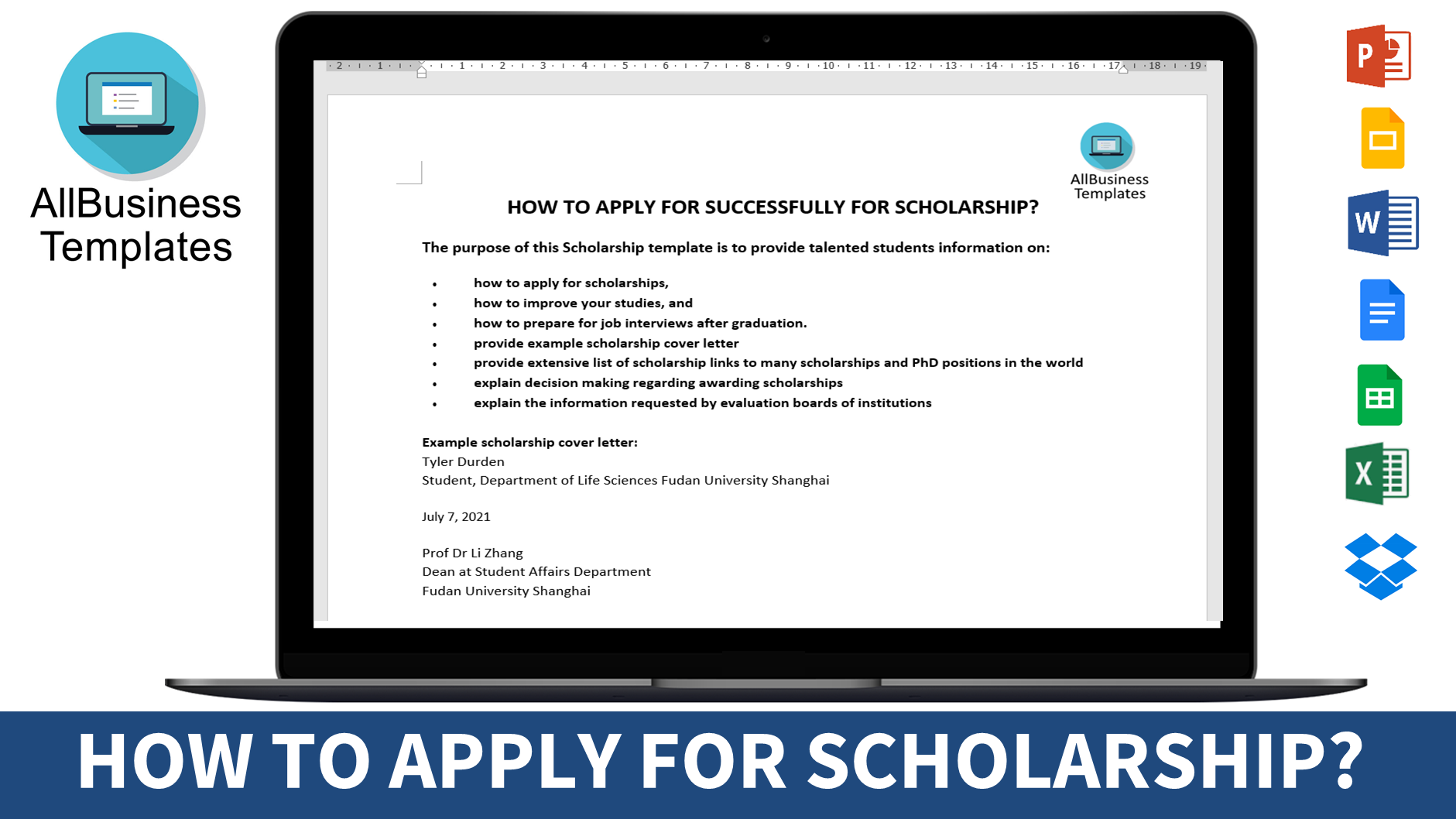 Cover Letter How To Apply Successfully For Scholarships In 2018