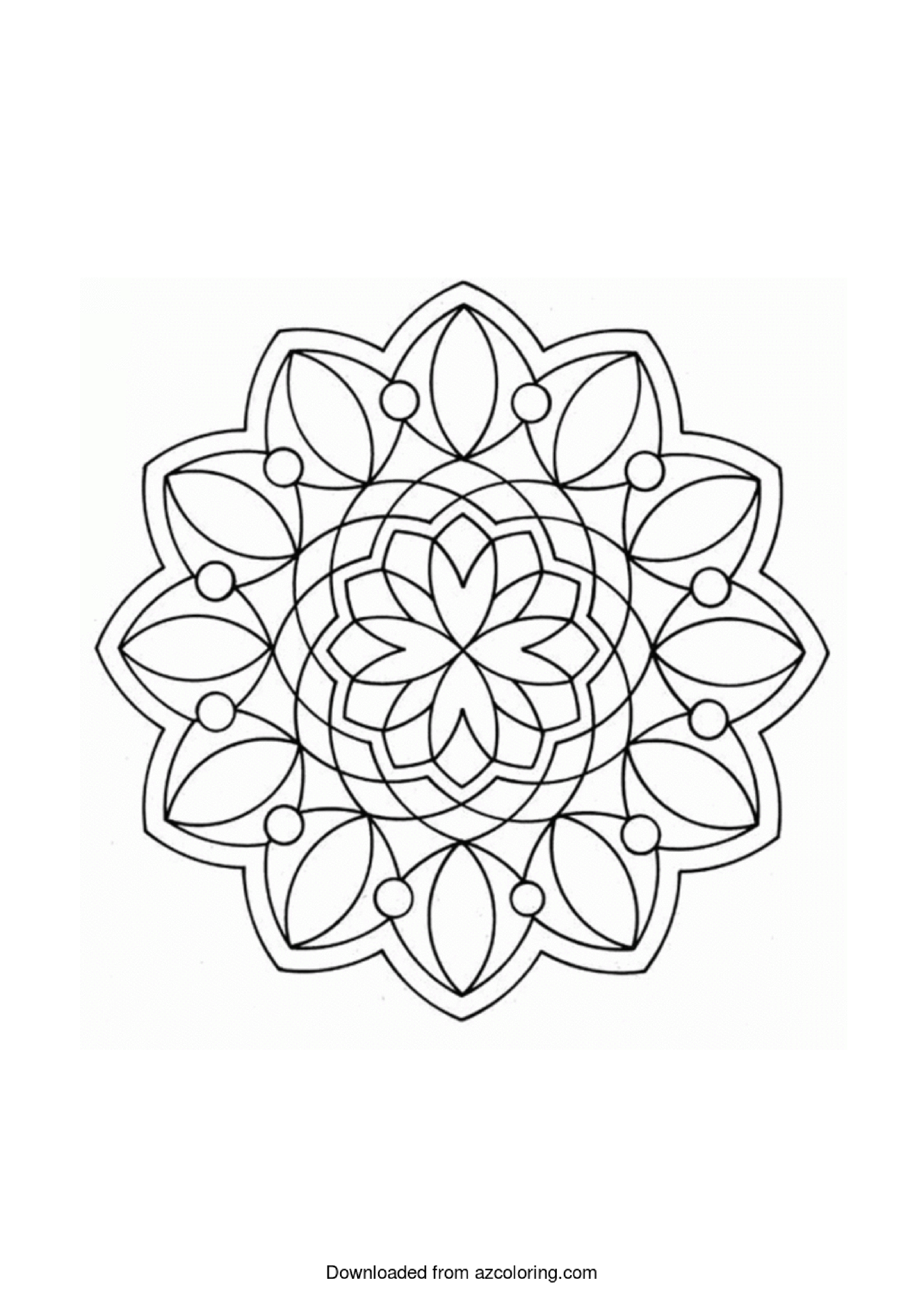 Simple Geometric Coloring Page Main Image
