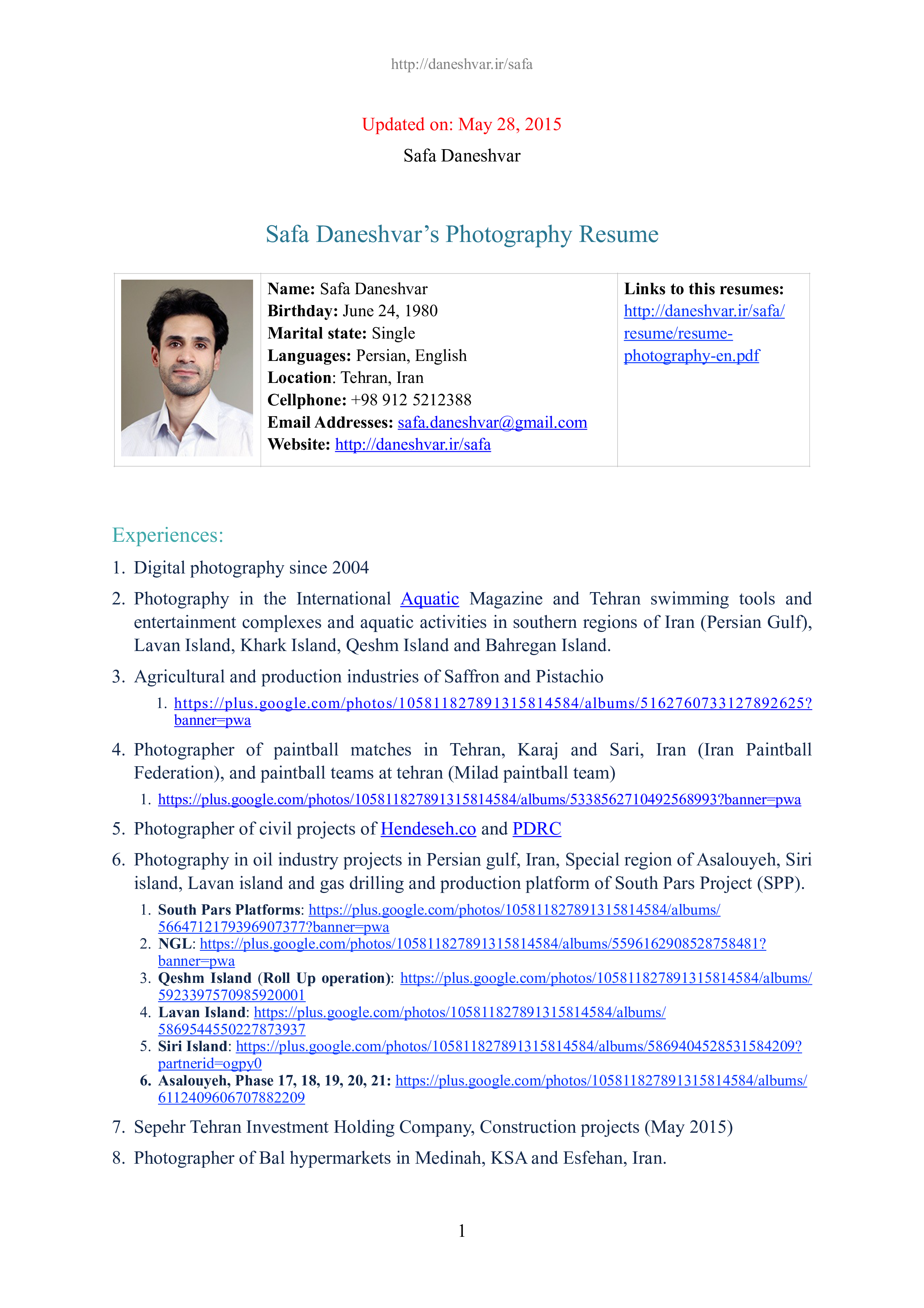Free Digital Photographer Resume | Templates at allbusinesstemplates.com
