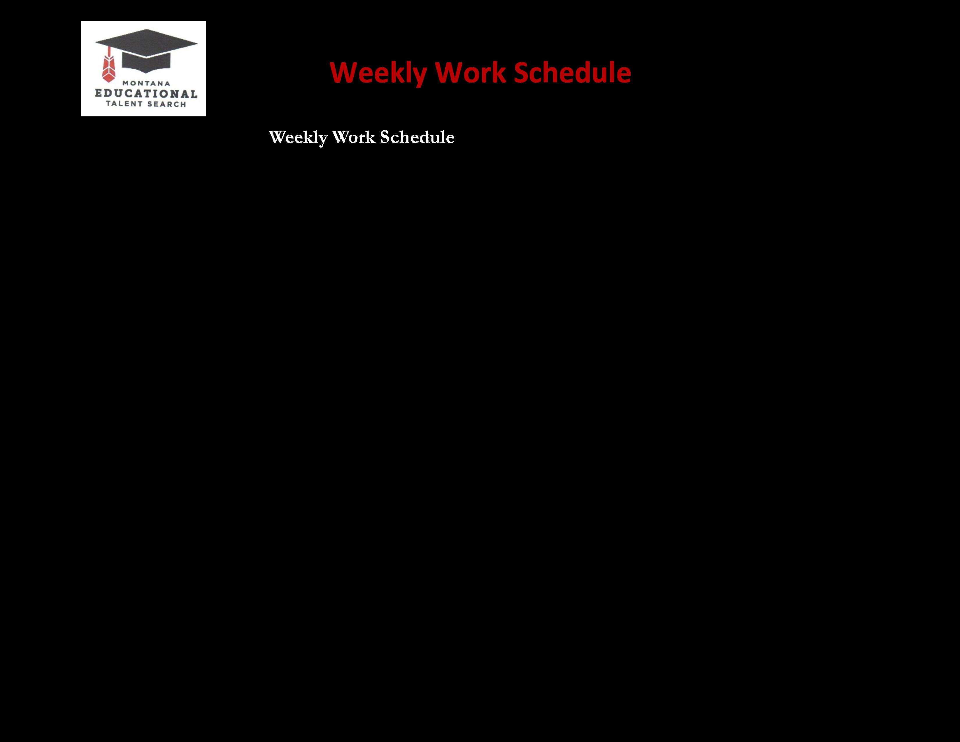 Weekly Work Schedule Templates At Allbusinesstemplates Com