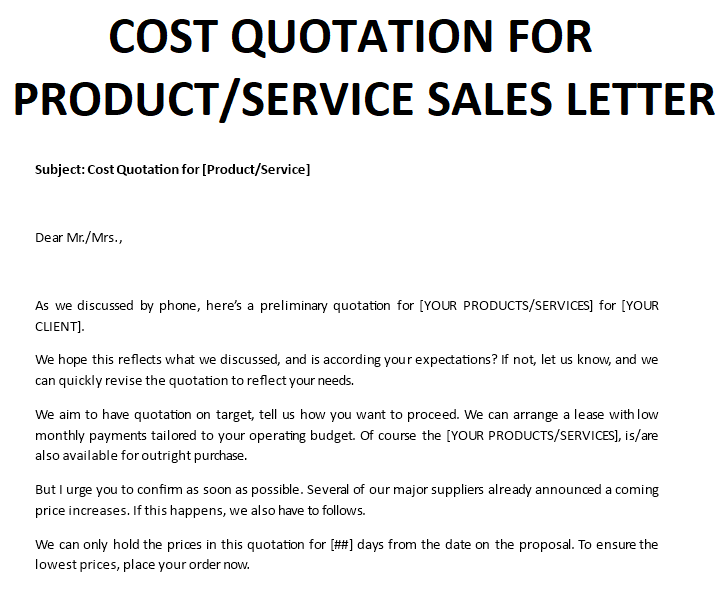b16e8e14-4735-469a-b896-94ceda7b8062 Sales Quote Letter Template on