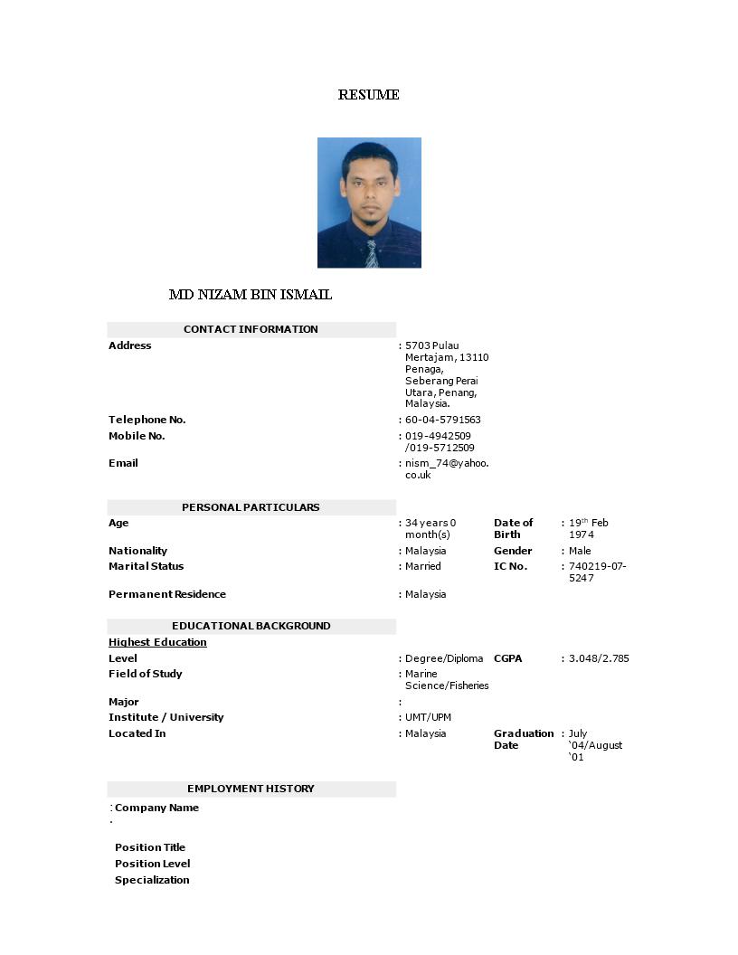 Official resume samples director film resume