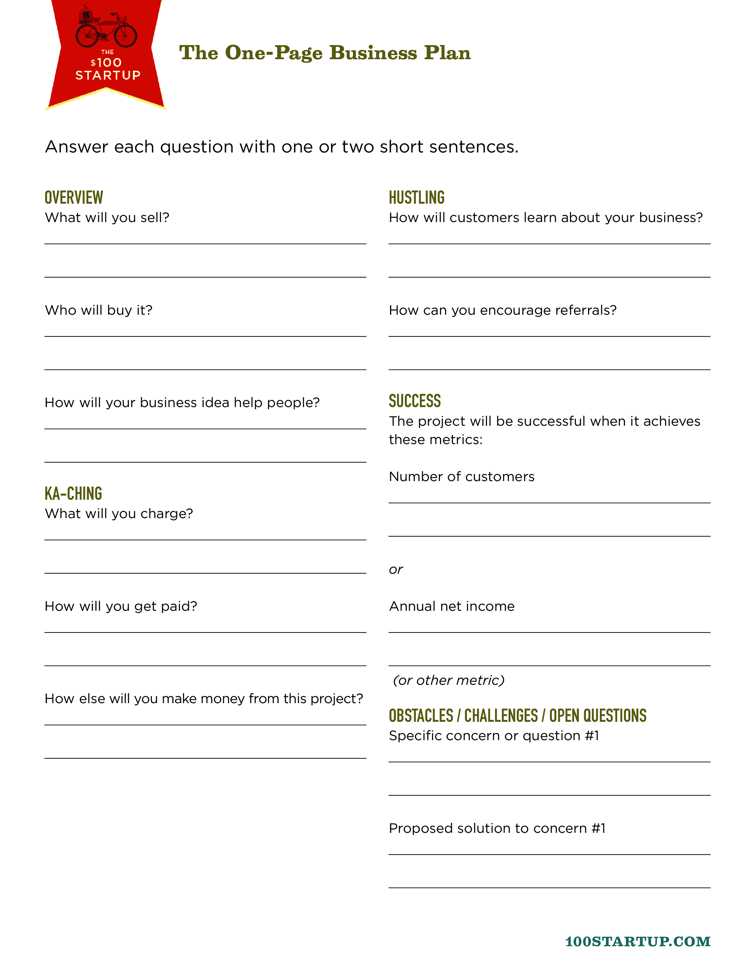 Free One Page Business Proposal Word Templates At
