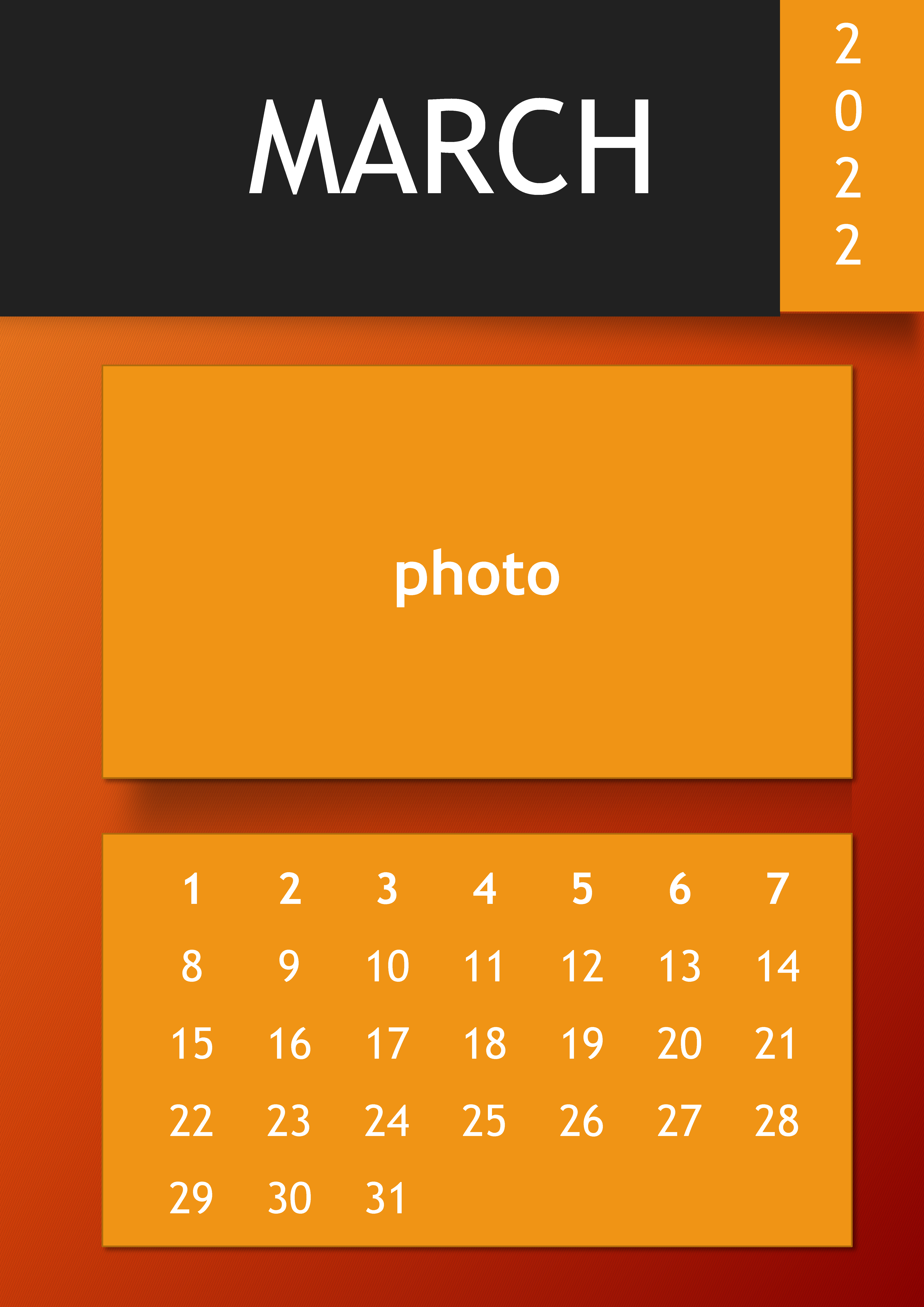 2023 Calendar in PowerPoint main image