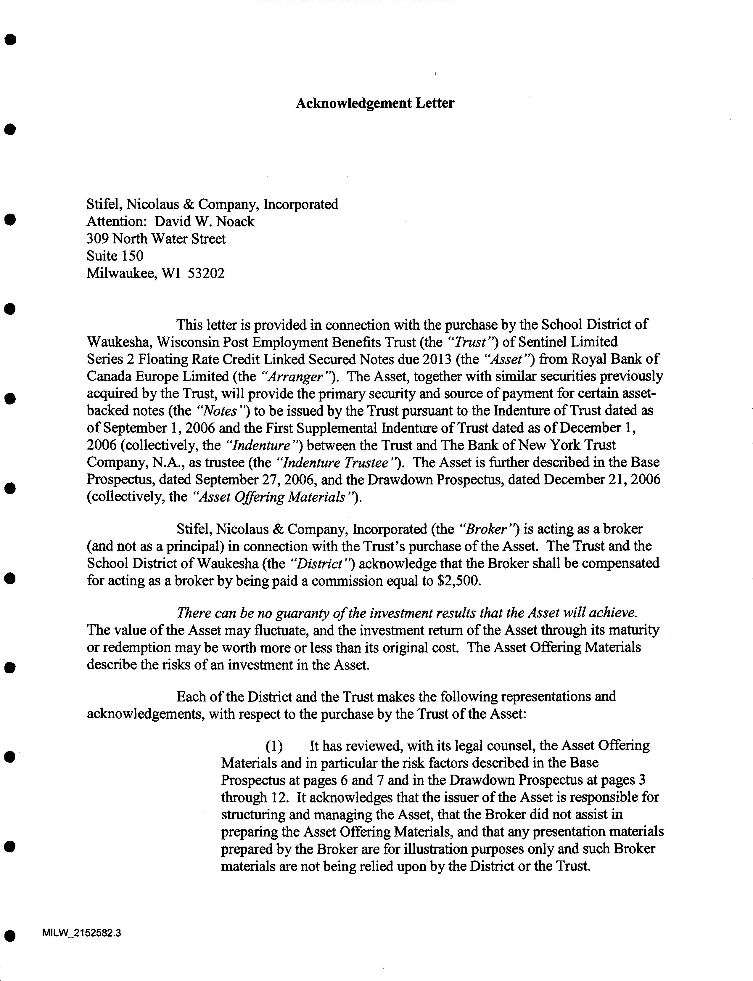 company asset acknowledgement letter