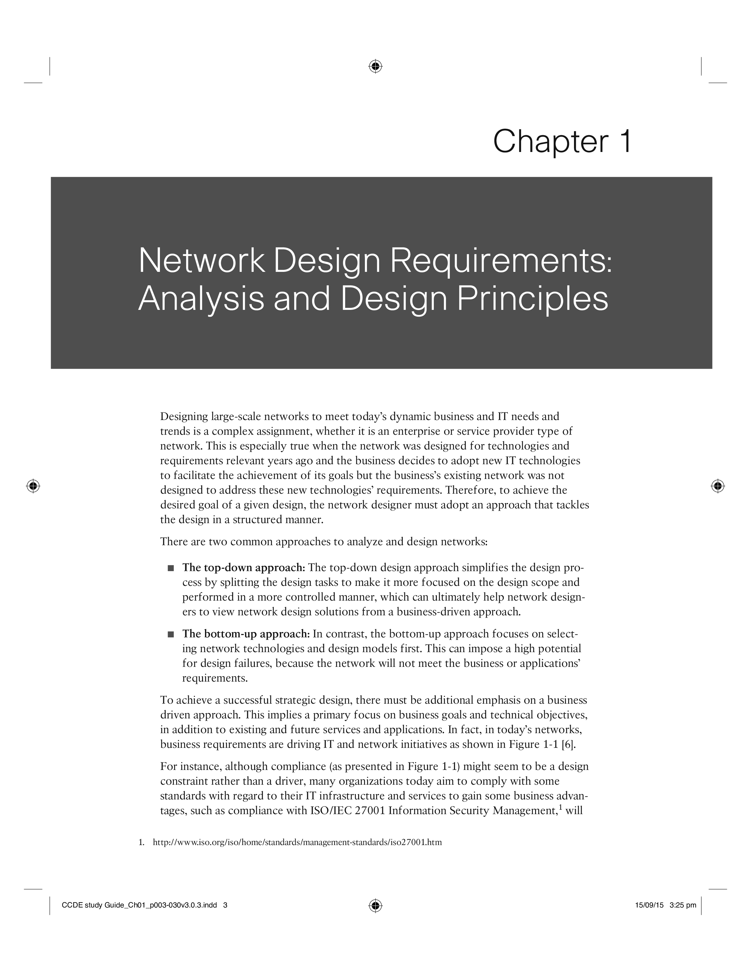 free network design requirements analysis templates at