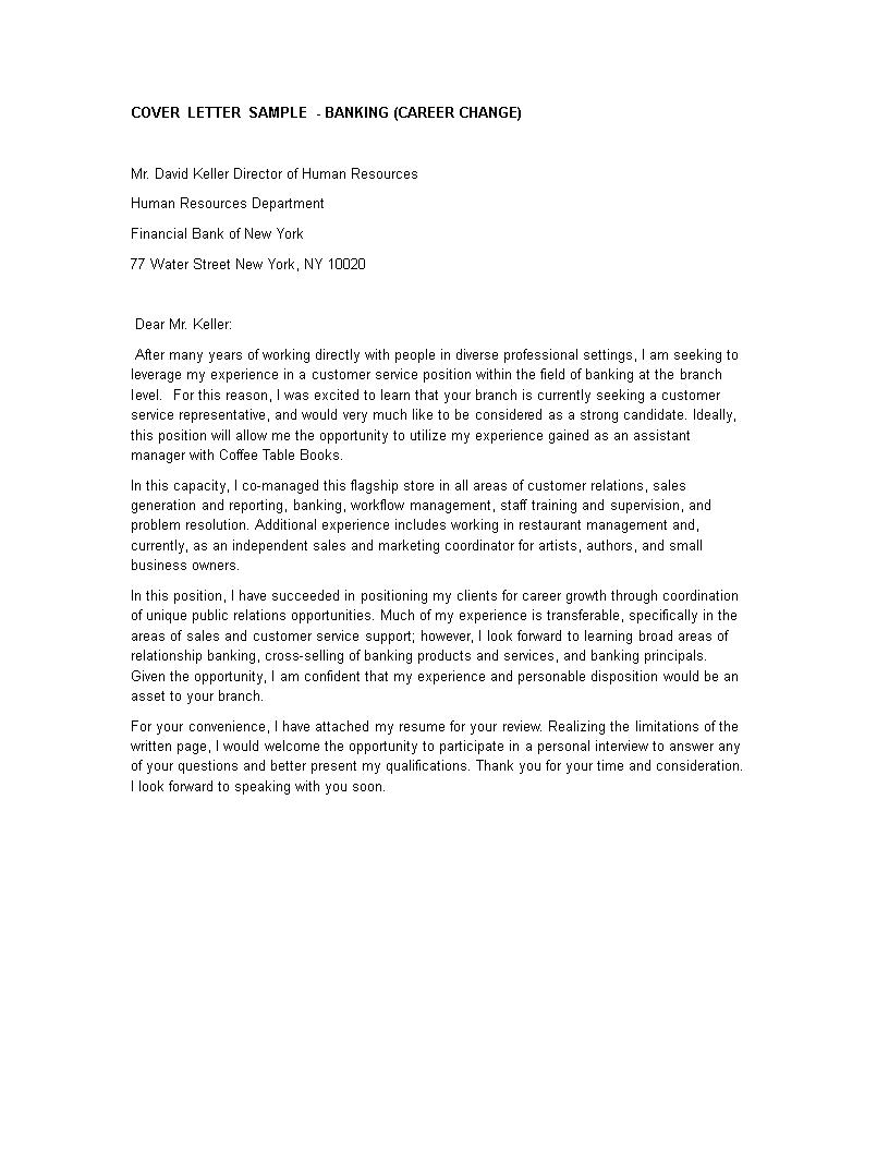 Career Change Cover Letter Sample from www.allbusinesstemplates.com