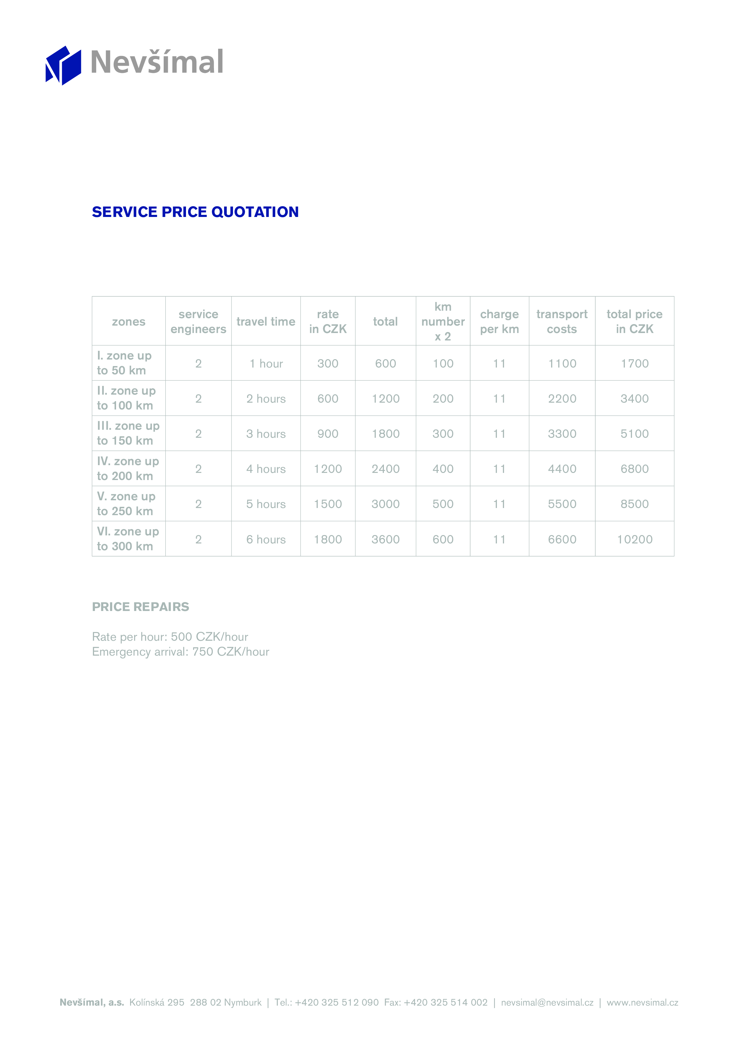 free formal service quotation templates at