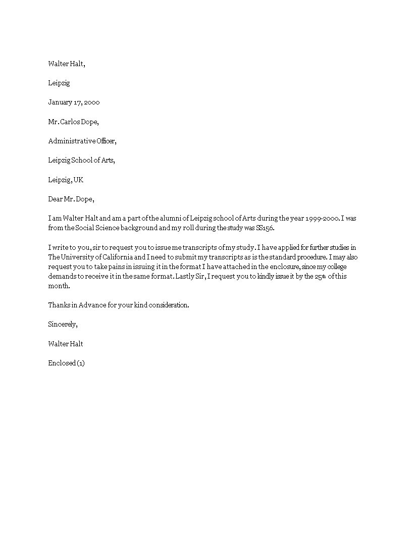 Free transcript request letter example templates at transcript request letter example main image spiritdancerdesigns Choice Image
