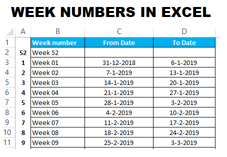 Article topic thumb image for Week numbers in Excel