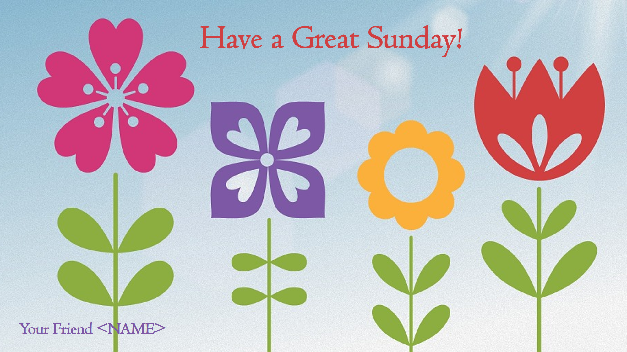 Free Good Morning Images With Flowers Sunday Templates At
