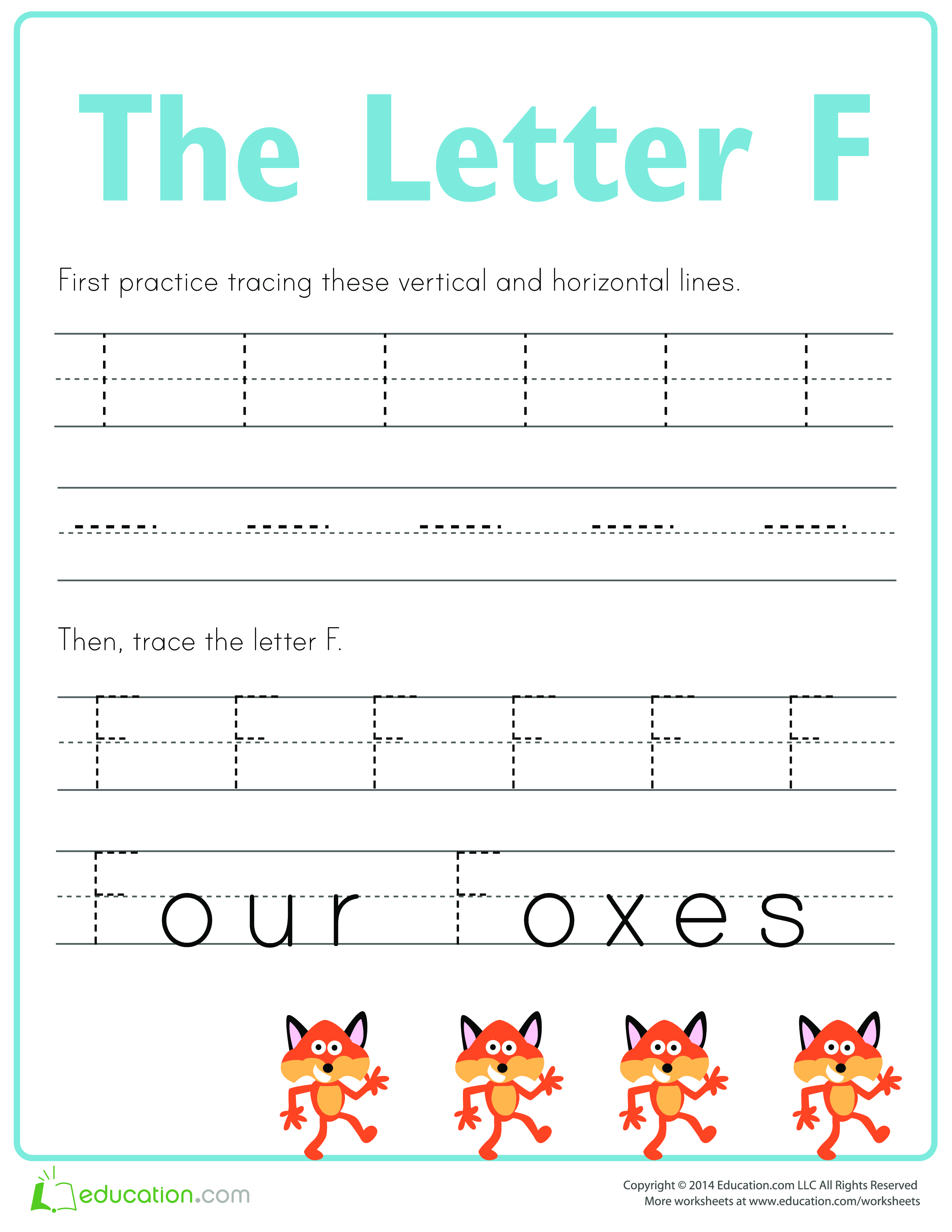 Free Practice To Write Letter F Templates At Allbusinesstemplates