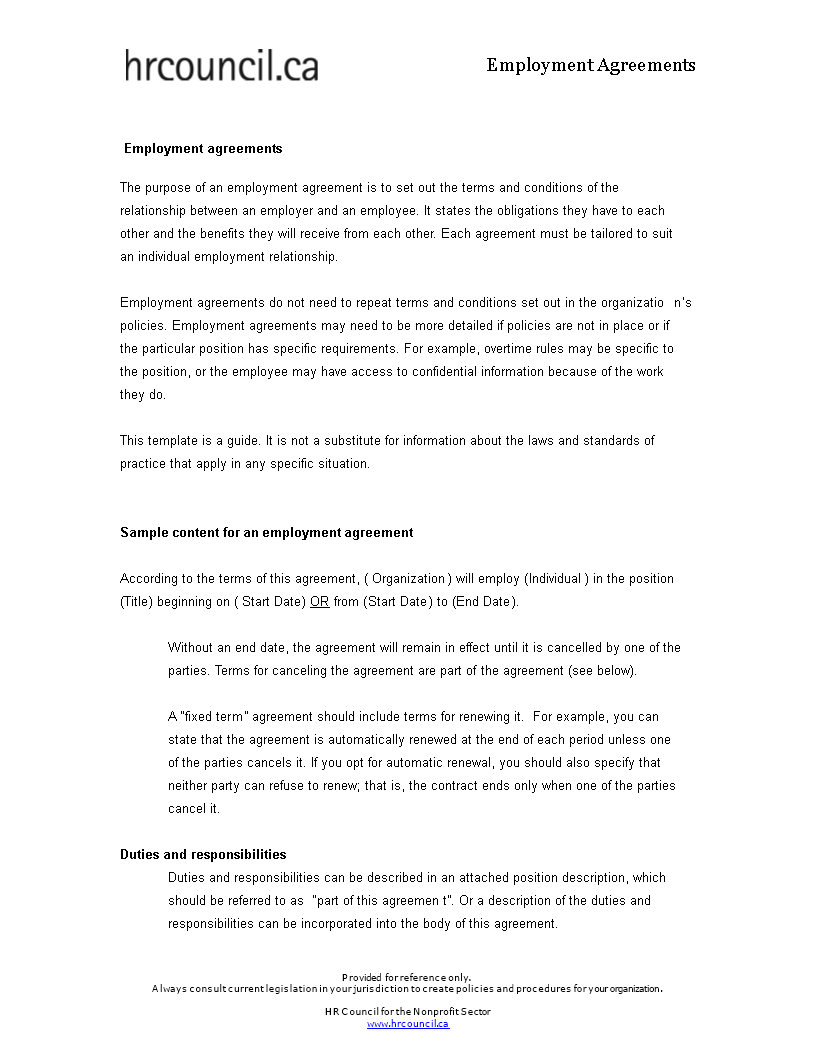 Free Fixed Term Employment Contract Template Templates At