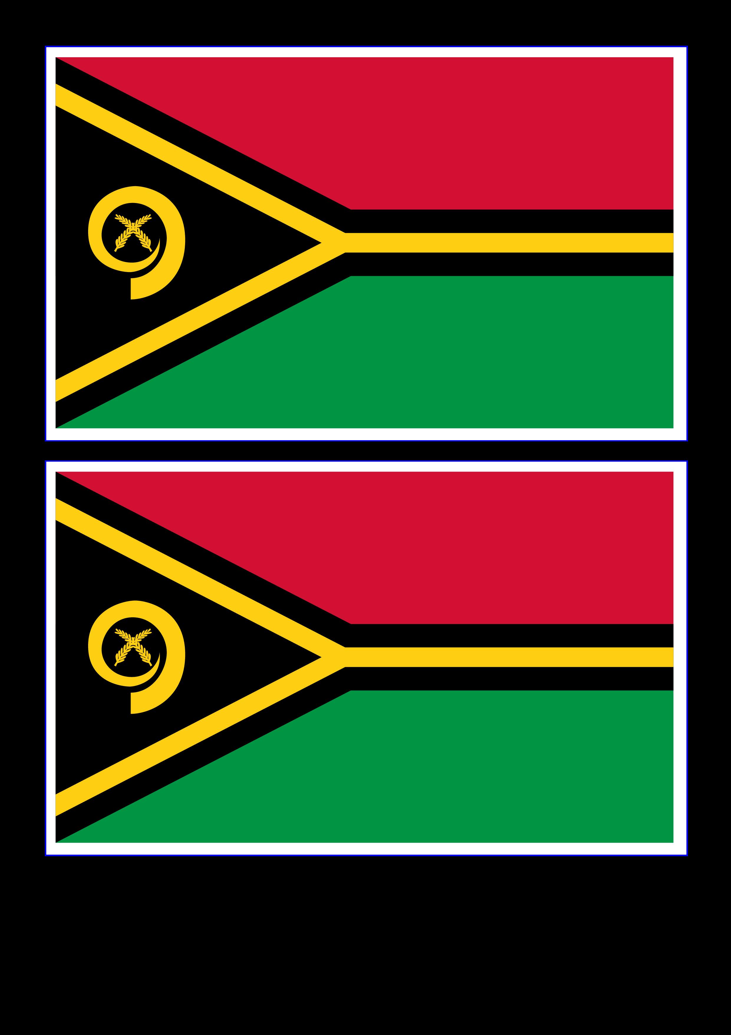 Vanuatu Flag | Templates at allbusinesstemplates.com