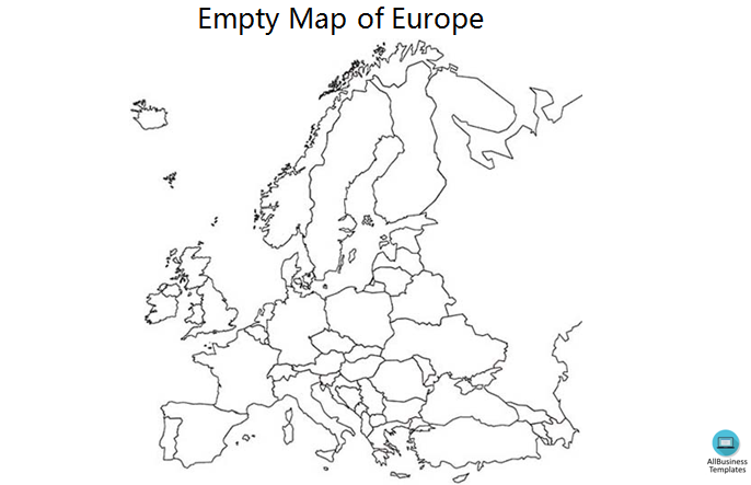 Empty Map of Europe Outline main image