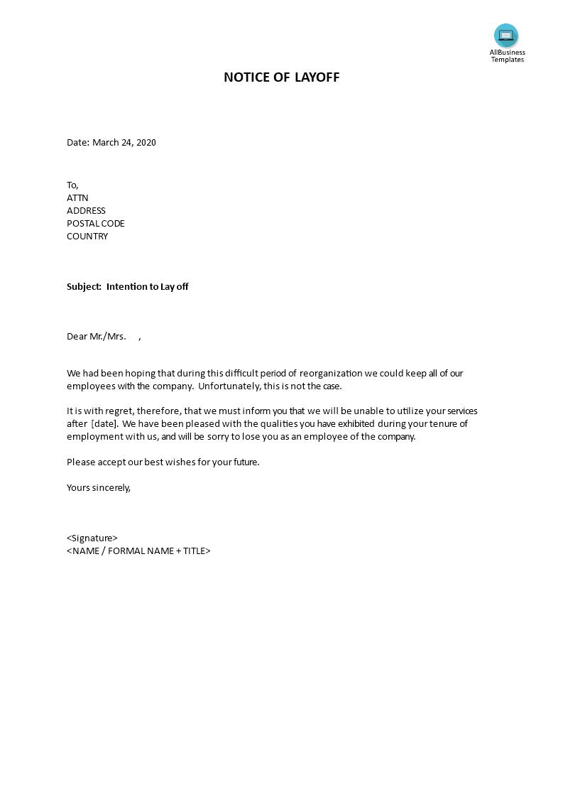 u9ad8 u7ea7 notice of layoff