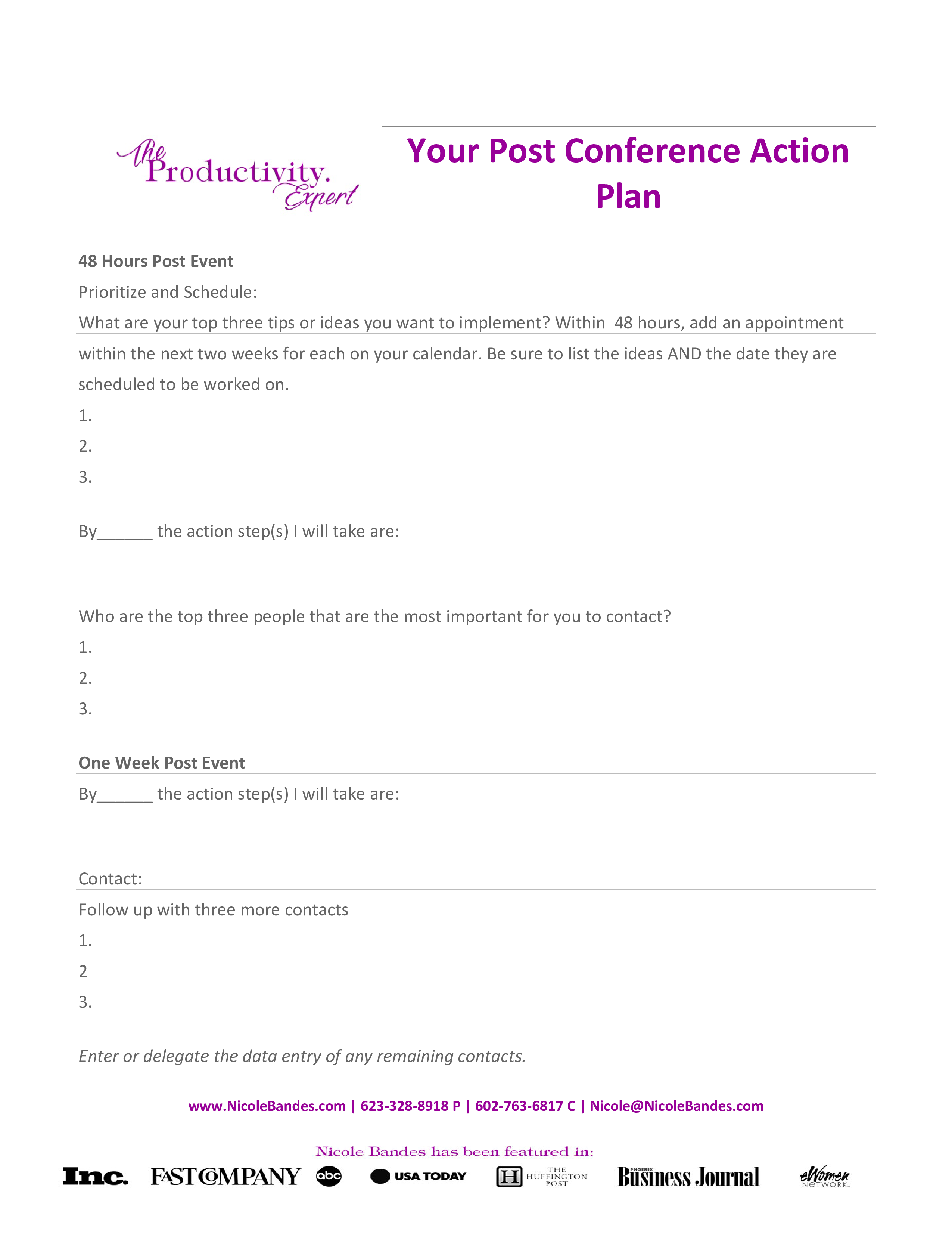 Free post event action plan templates at allbusinesstemplates post event action plan main image download template accmission Gallery