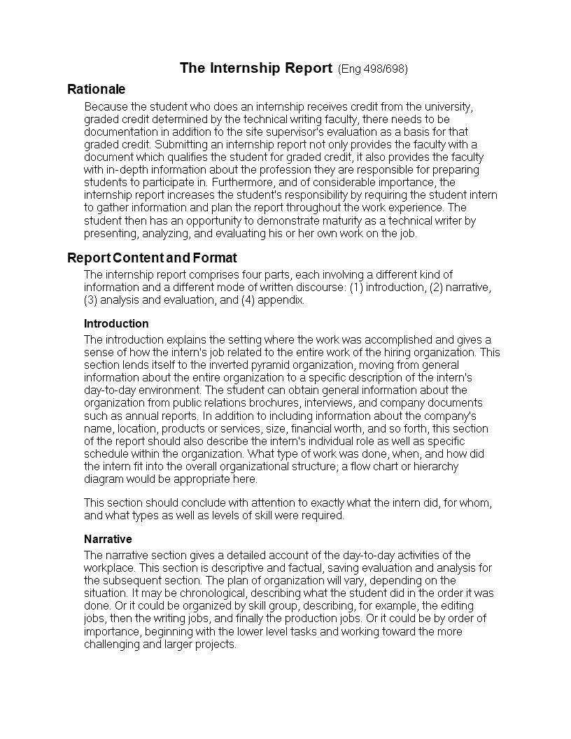 parts of narrative report