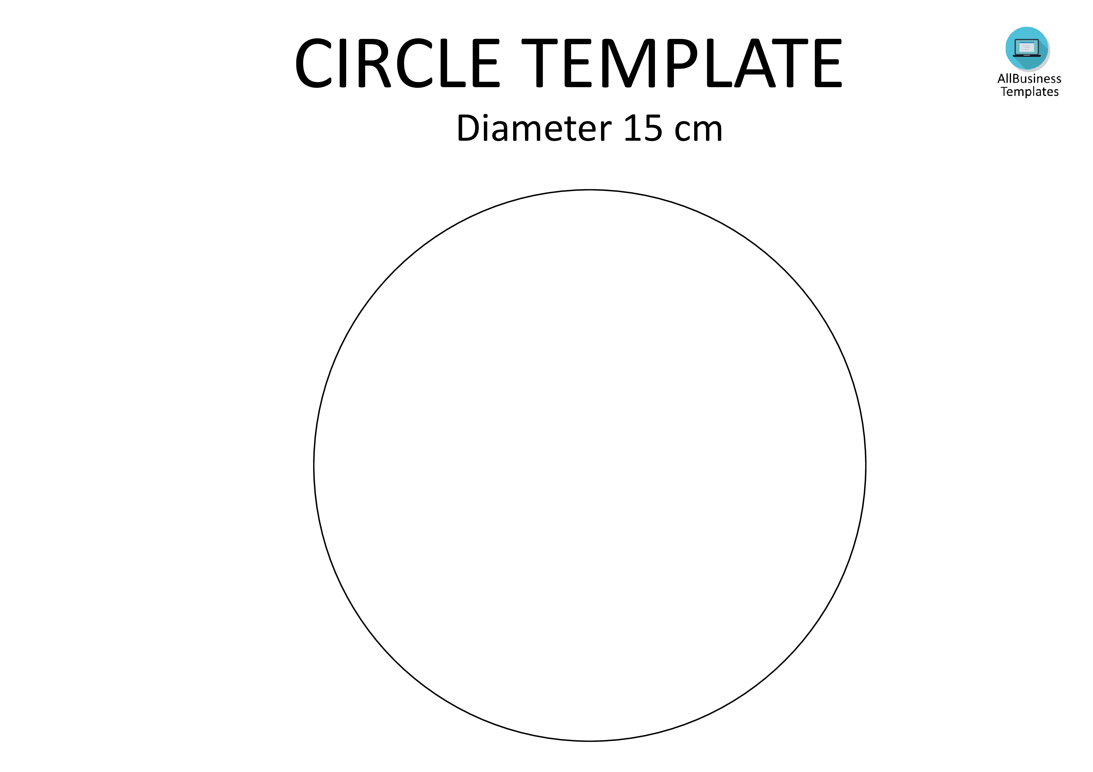 Free Circle template A4 diameter 15CM | Templates at ...