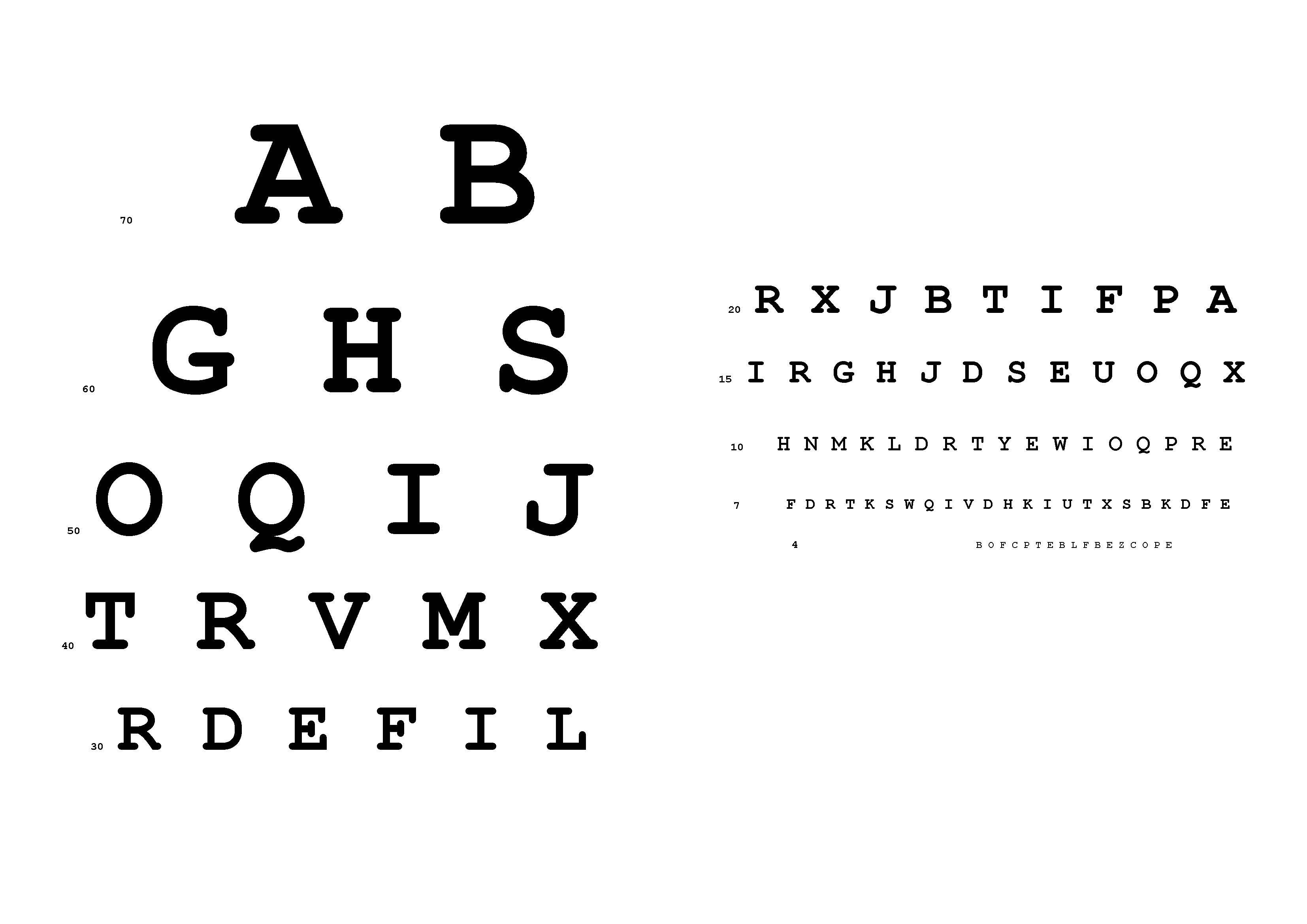 Free Snellen Eye Chart A3 Templates At Allbusinesstemplates