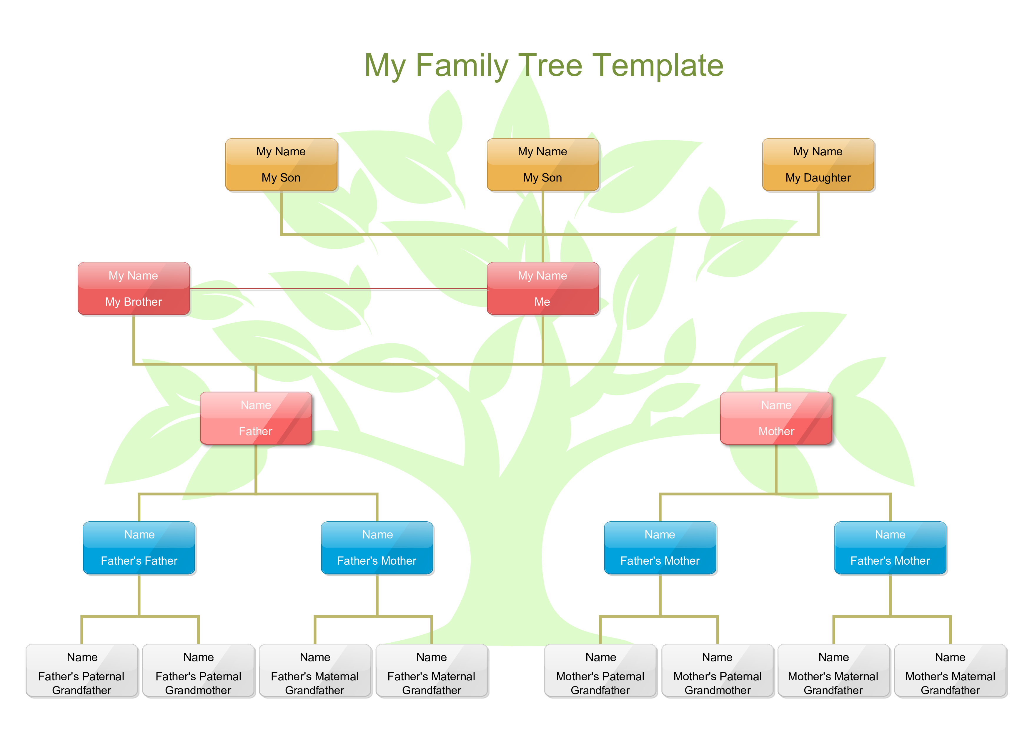 Free my family tree template for kids templates at for Interactive family tree template