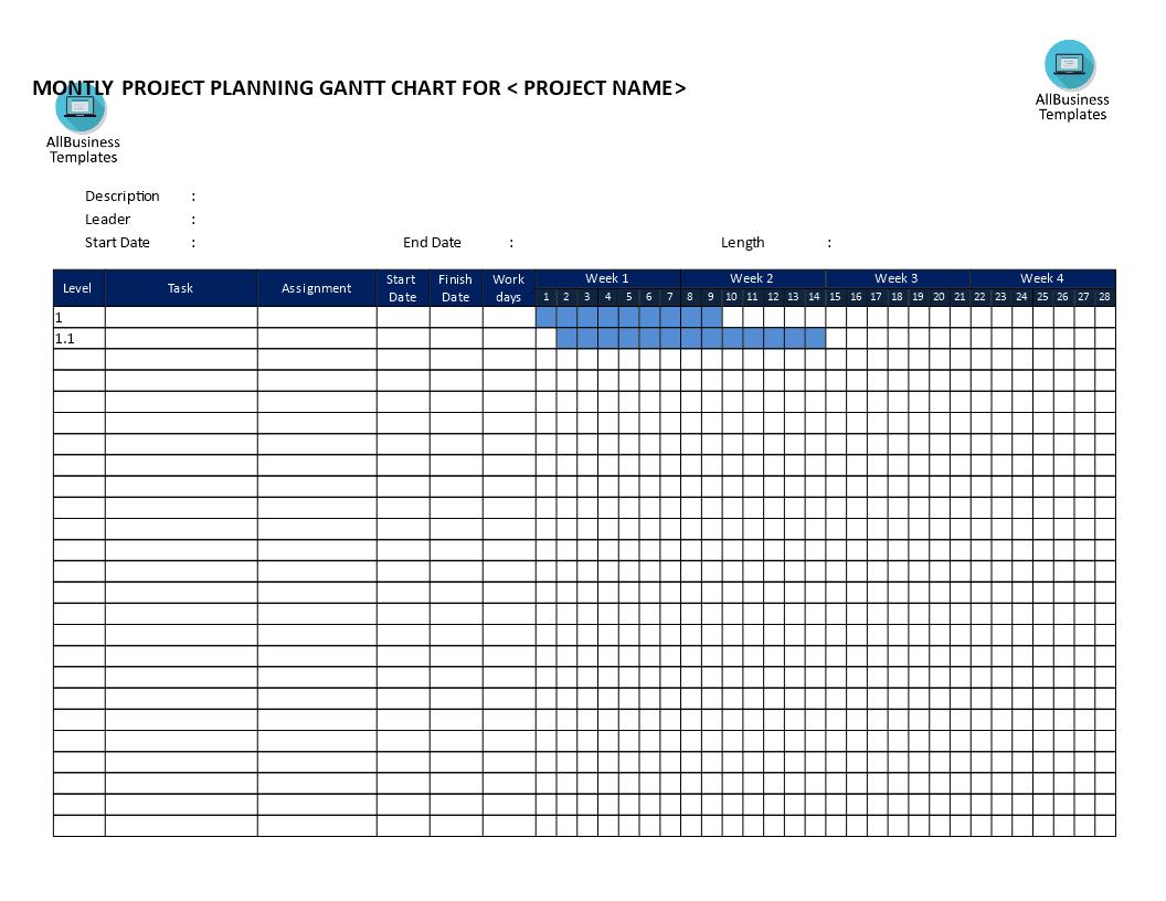 Gantt Chart Excel Free Template