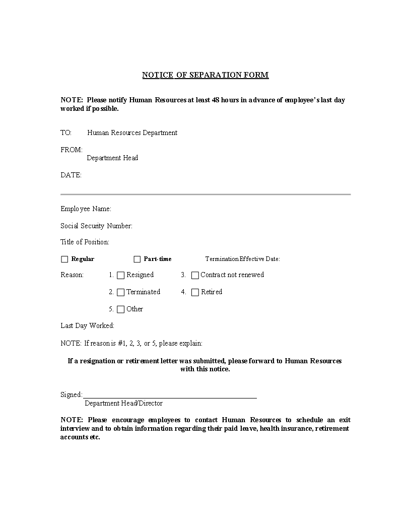 Separation Letter Template from www.allbusinesstemplates.com
