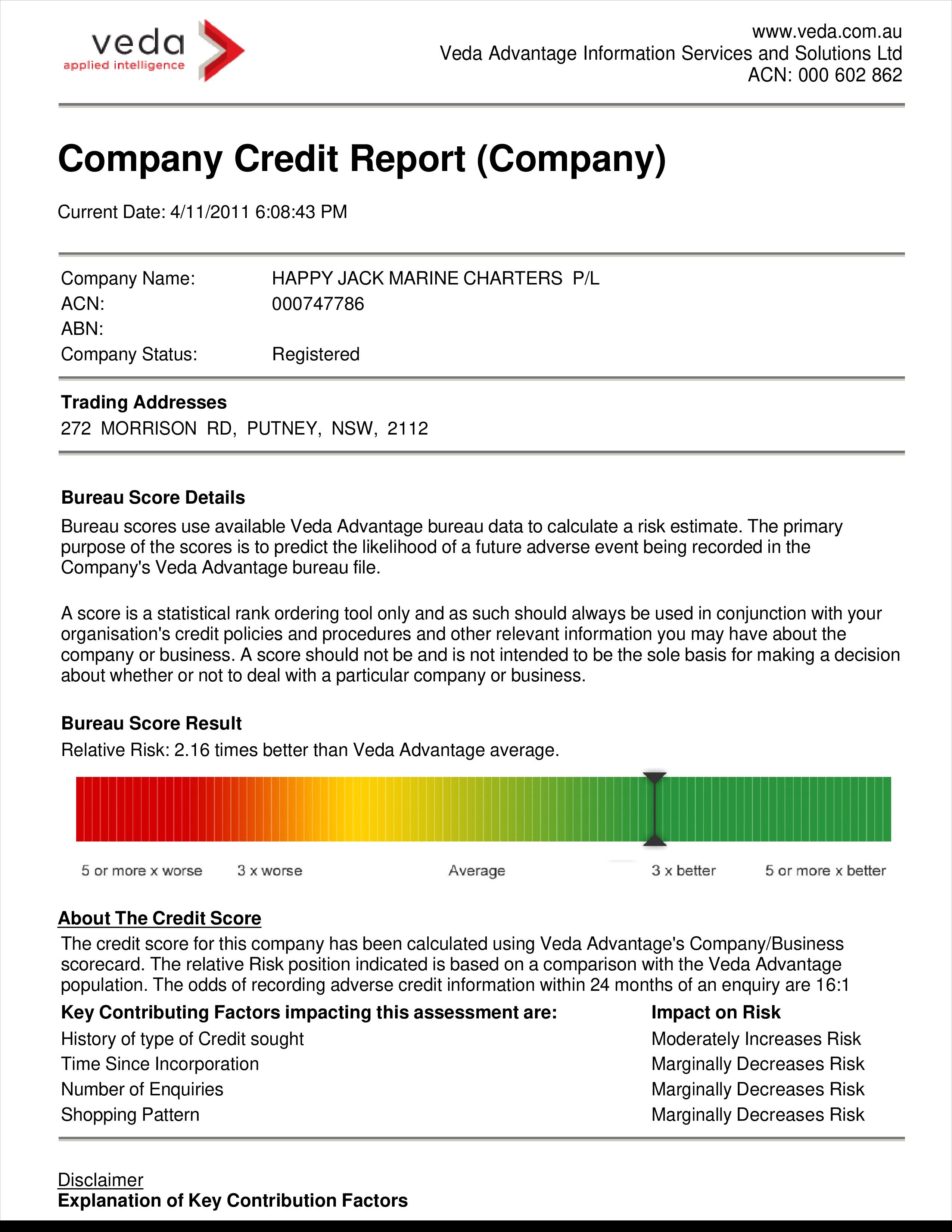 Free Company Credit Report | Templates at allbusinesstemplates.com
