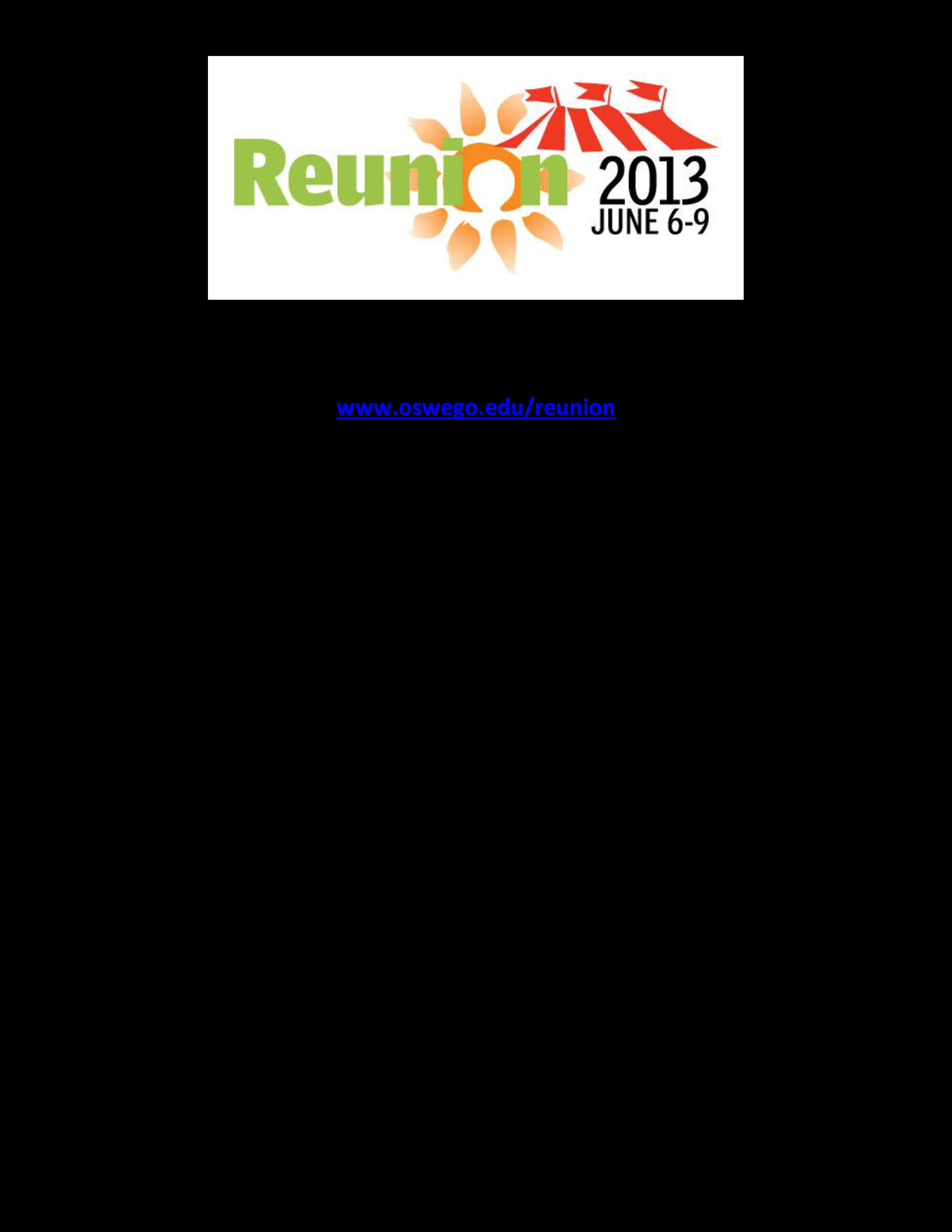 Reunion Program Agenda   Templates at allbusinesstemplates.com