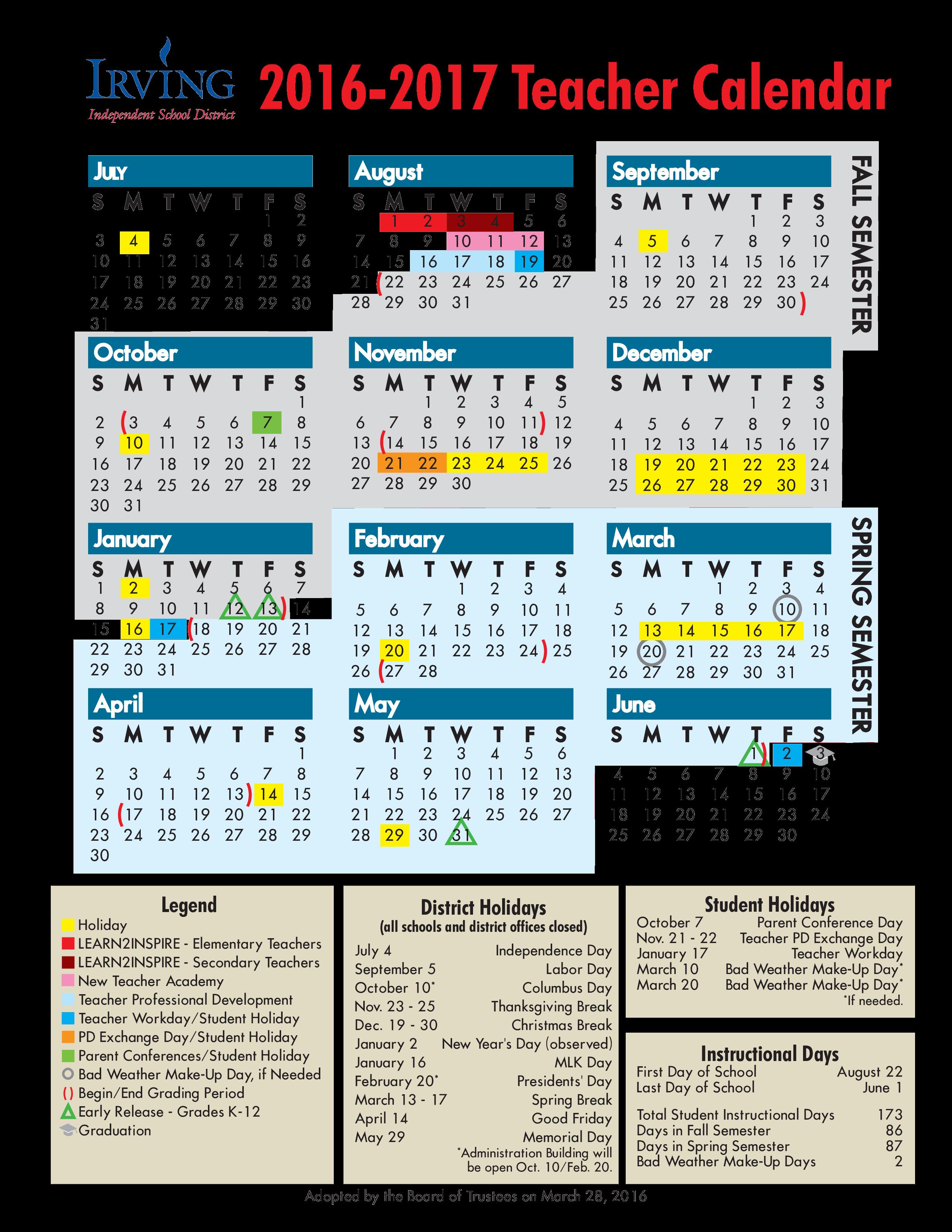 free teacher calendar templates at