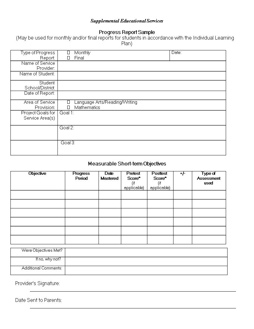 Student Report Template from www.allbusinesstemplates.com