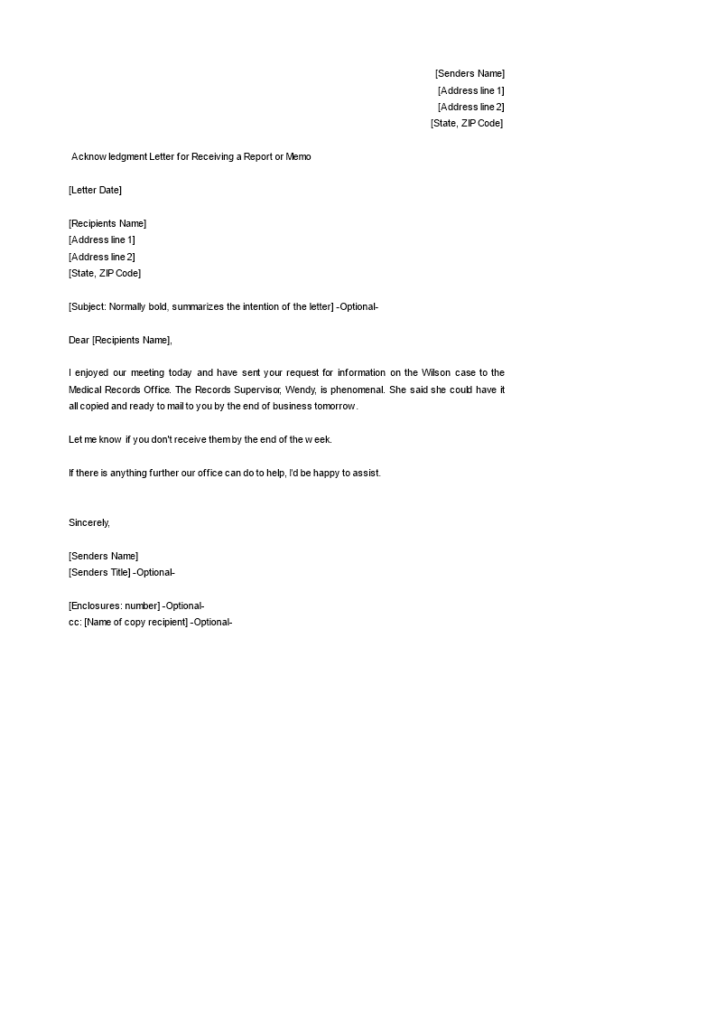 Acknowledgement Letter Templates  Topics About Business Forms