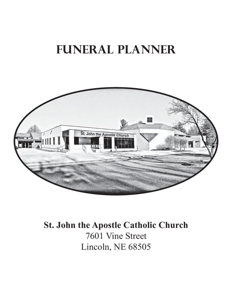 free funeral planner templates at