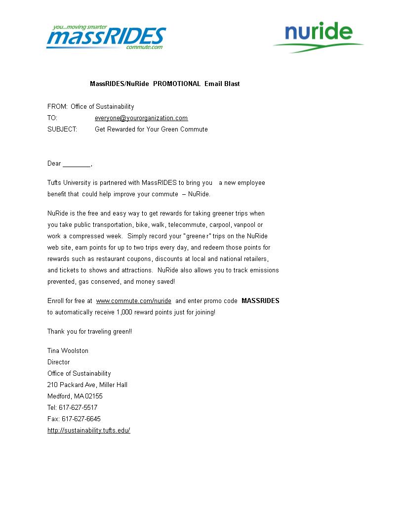 Free Nuride Promotional Email Templates At Allbusinesstemplatescom