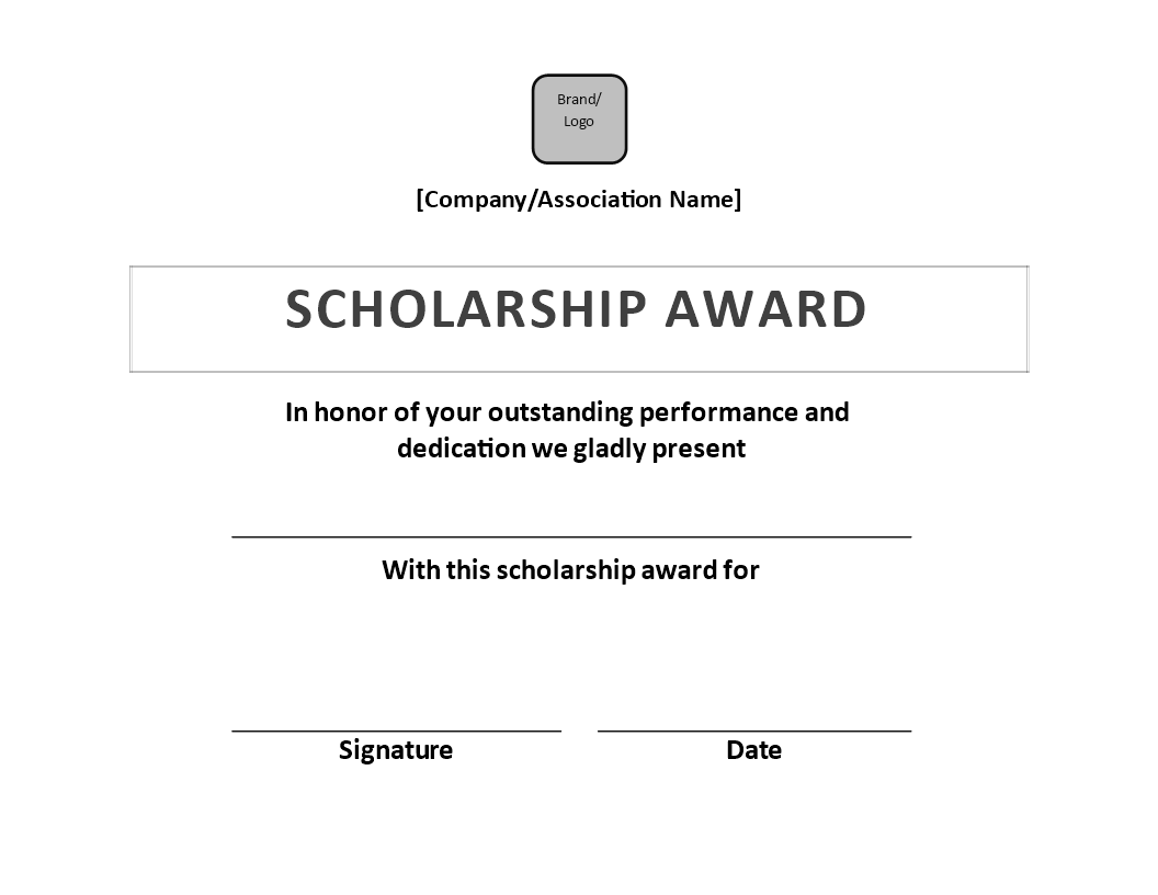 Free scholarship award certificate sample templates at scholarship award certificate sample main image yadclub Choice Image