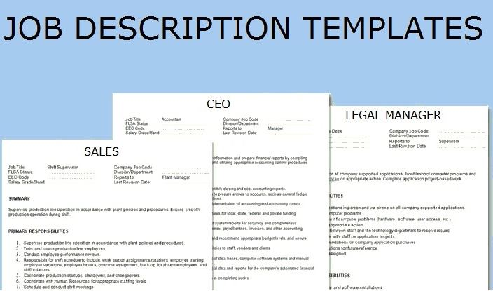 Job Description Template  Topics About Business Forms Contracts