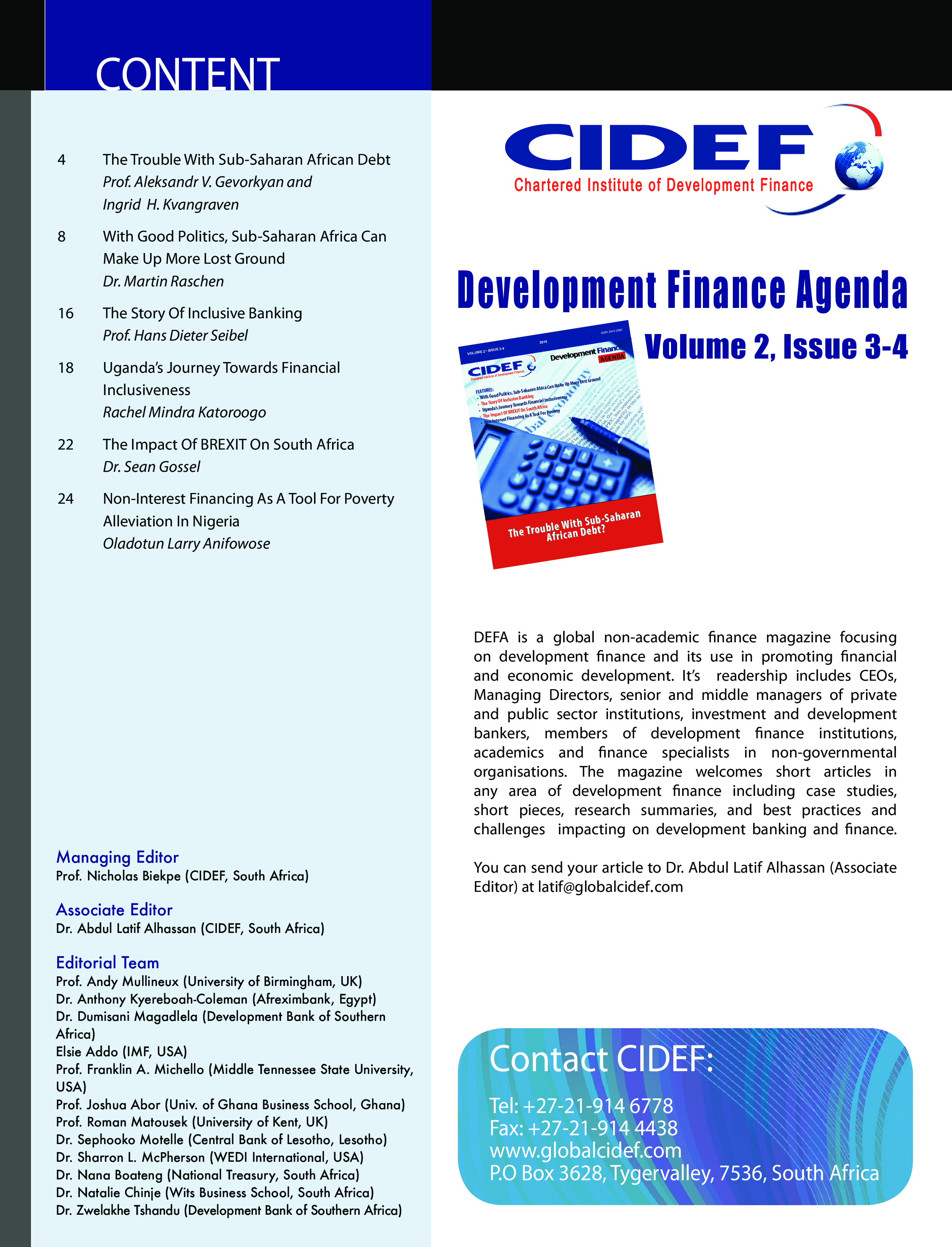 Development Finance Agenda main image